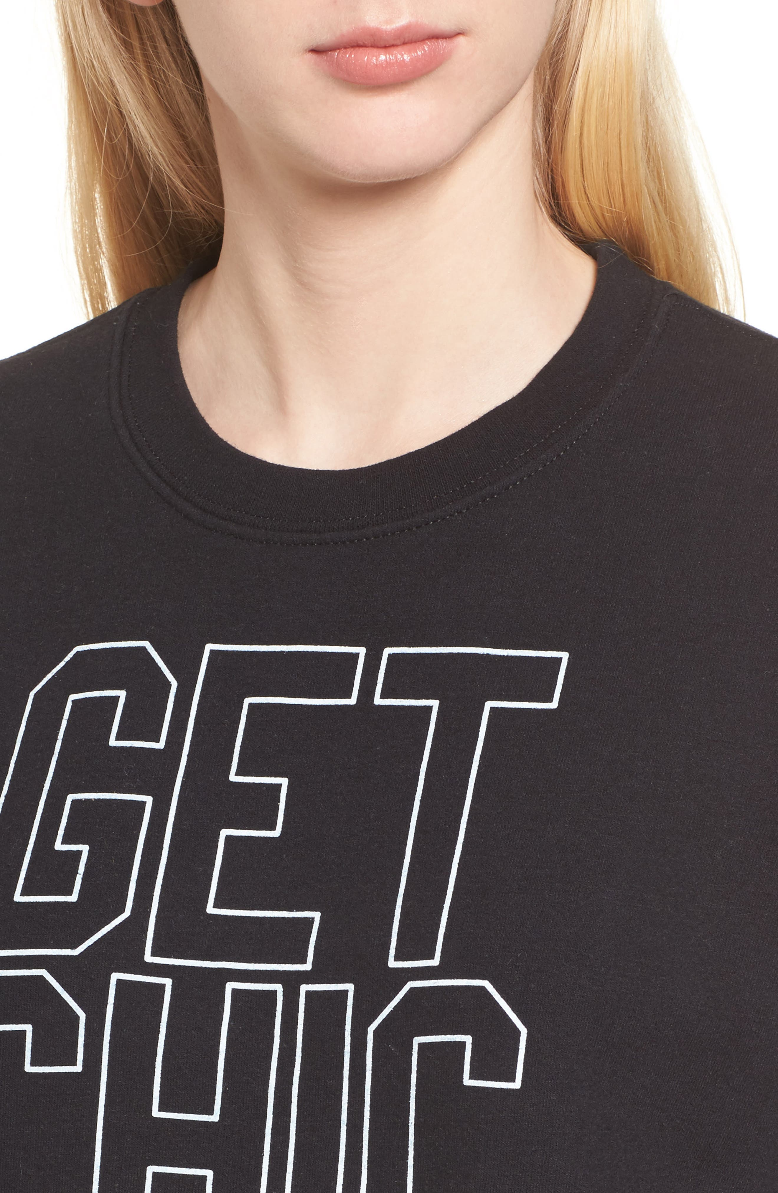 Get Chic Done Sweatshirt,                             Alternate thumbnail 4, color,                             Black