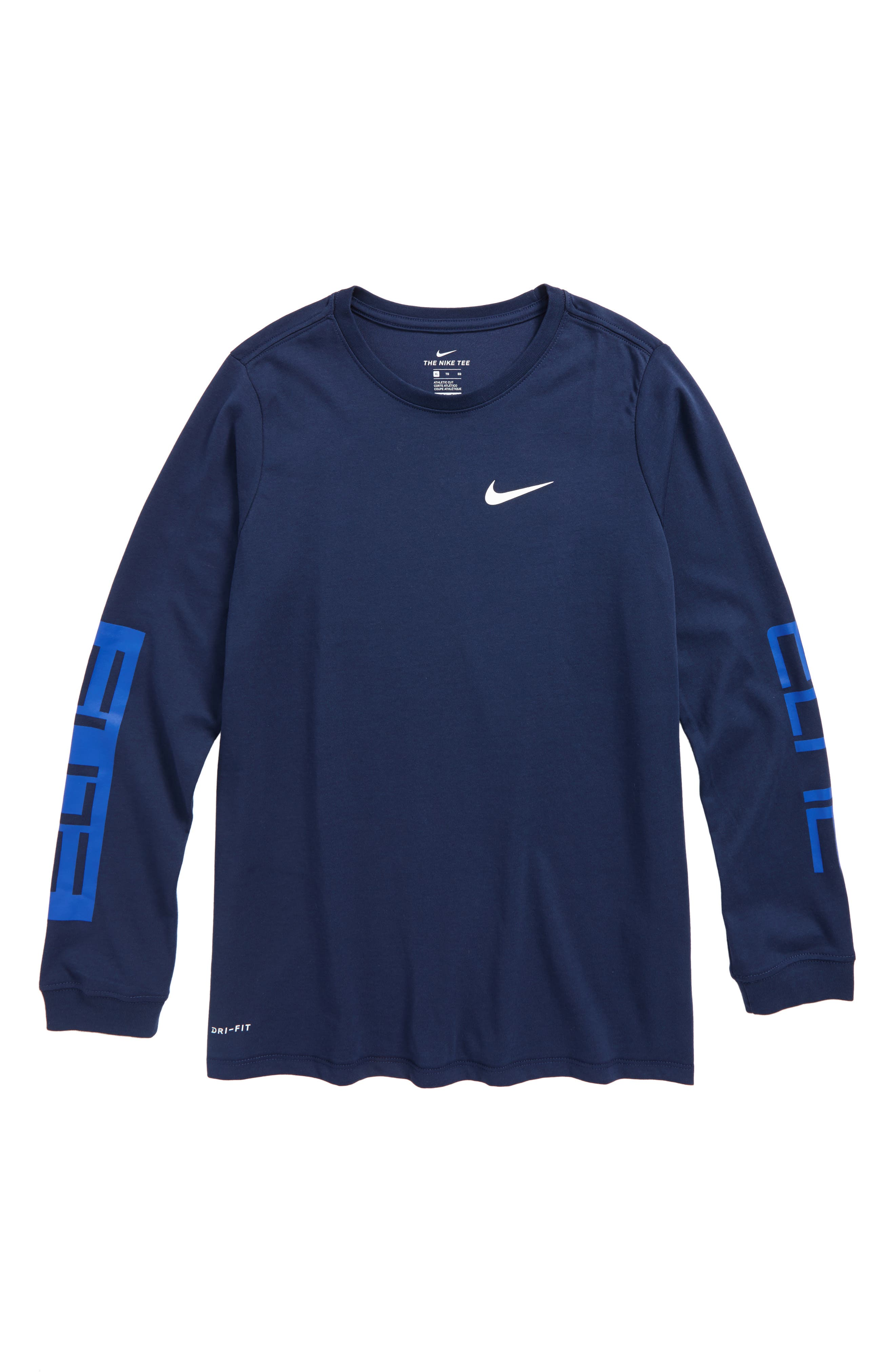Dry Elite Long Sleeve T-Shirt,                             Main thumbnail 1, color,                             Midnight Navy