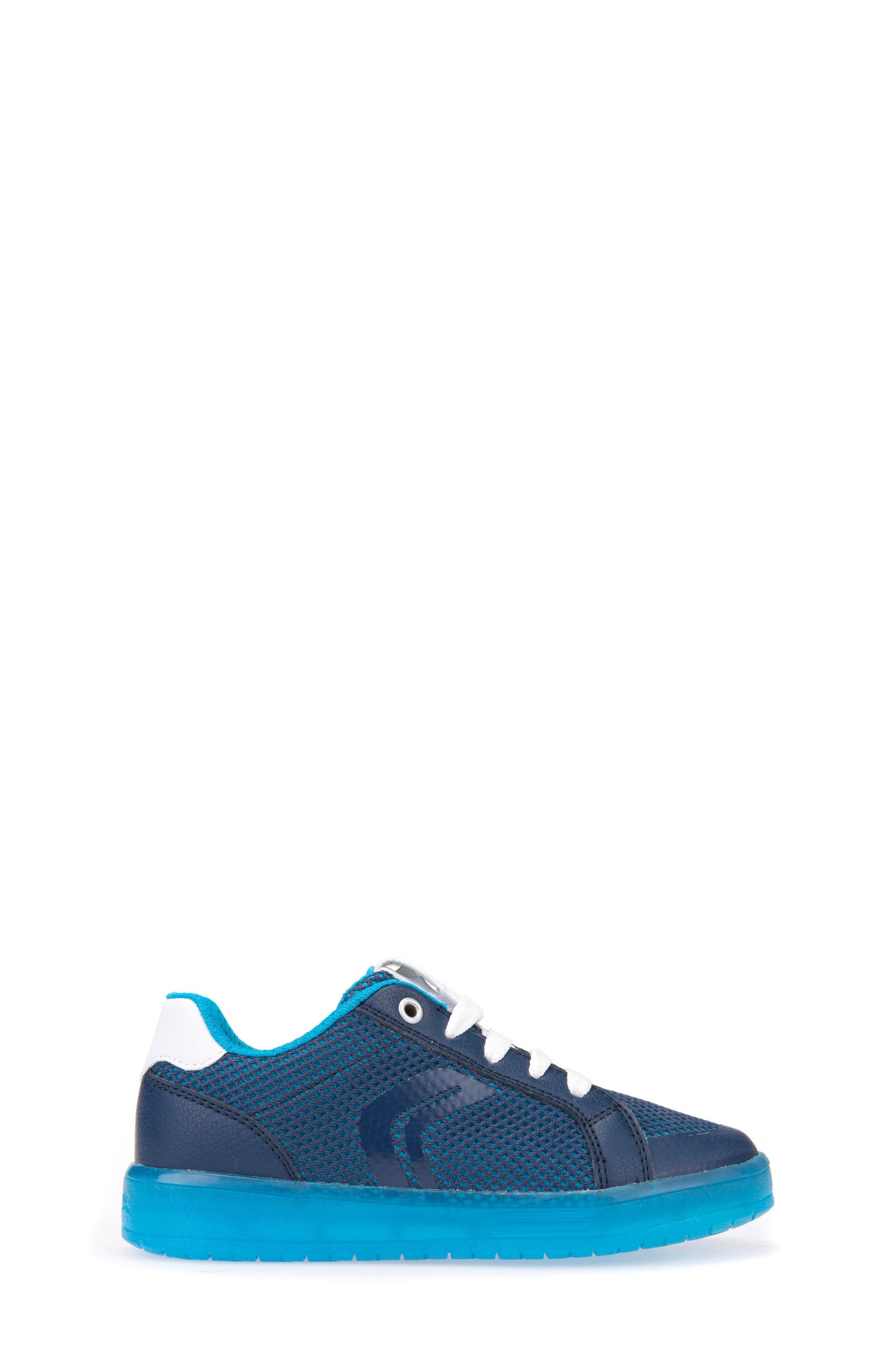 Kommodor Light-Up Mesh Sneaker,                             Alternate thumbnail 3, color,                             Navy/ Light Blue