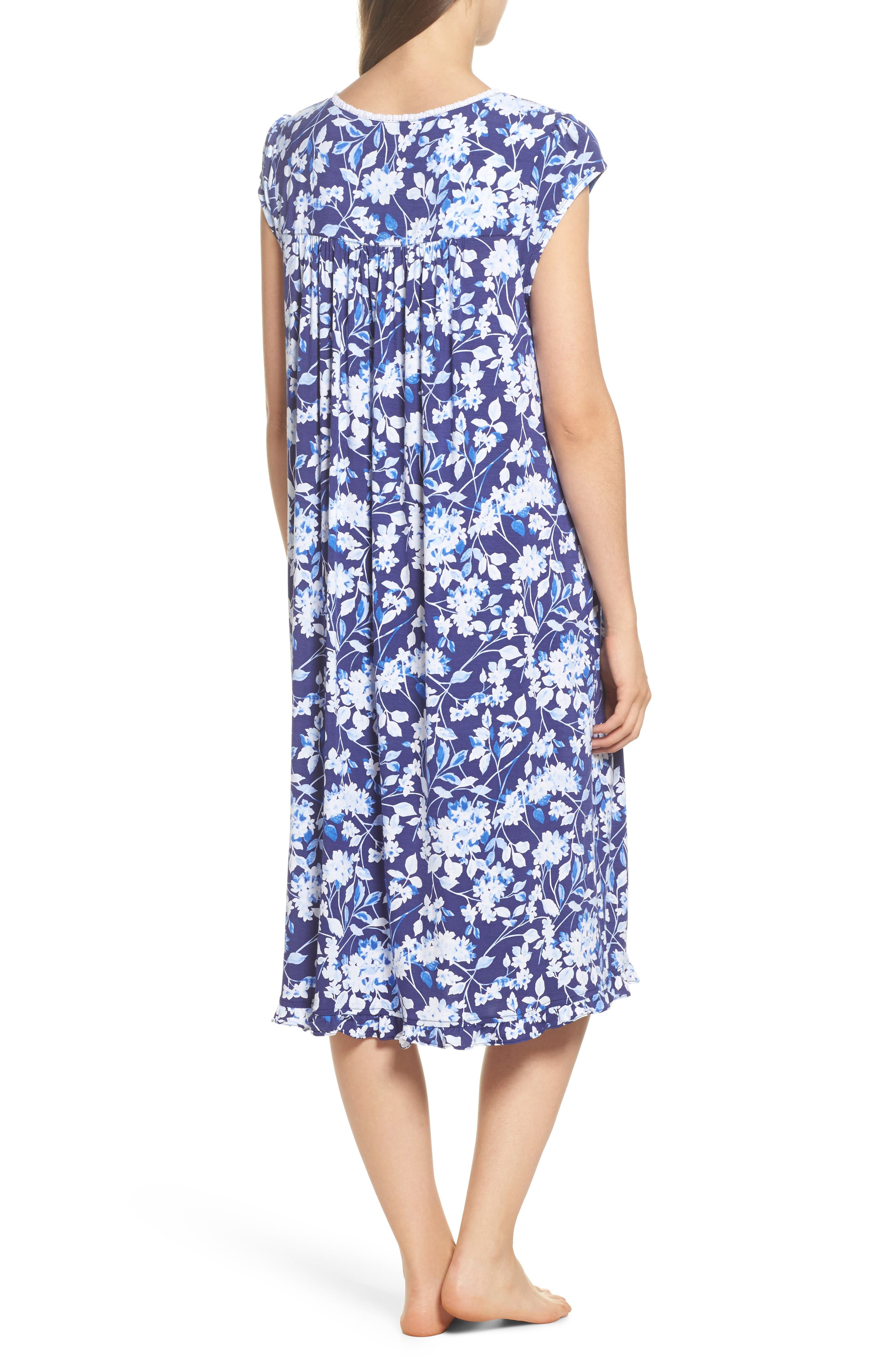 Waltz Nightgown,                             Alternate thumbnail 2, color,                             Blue Multi Floral