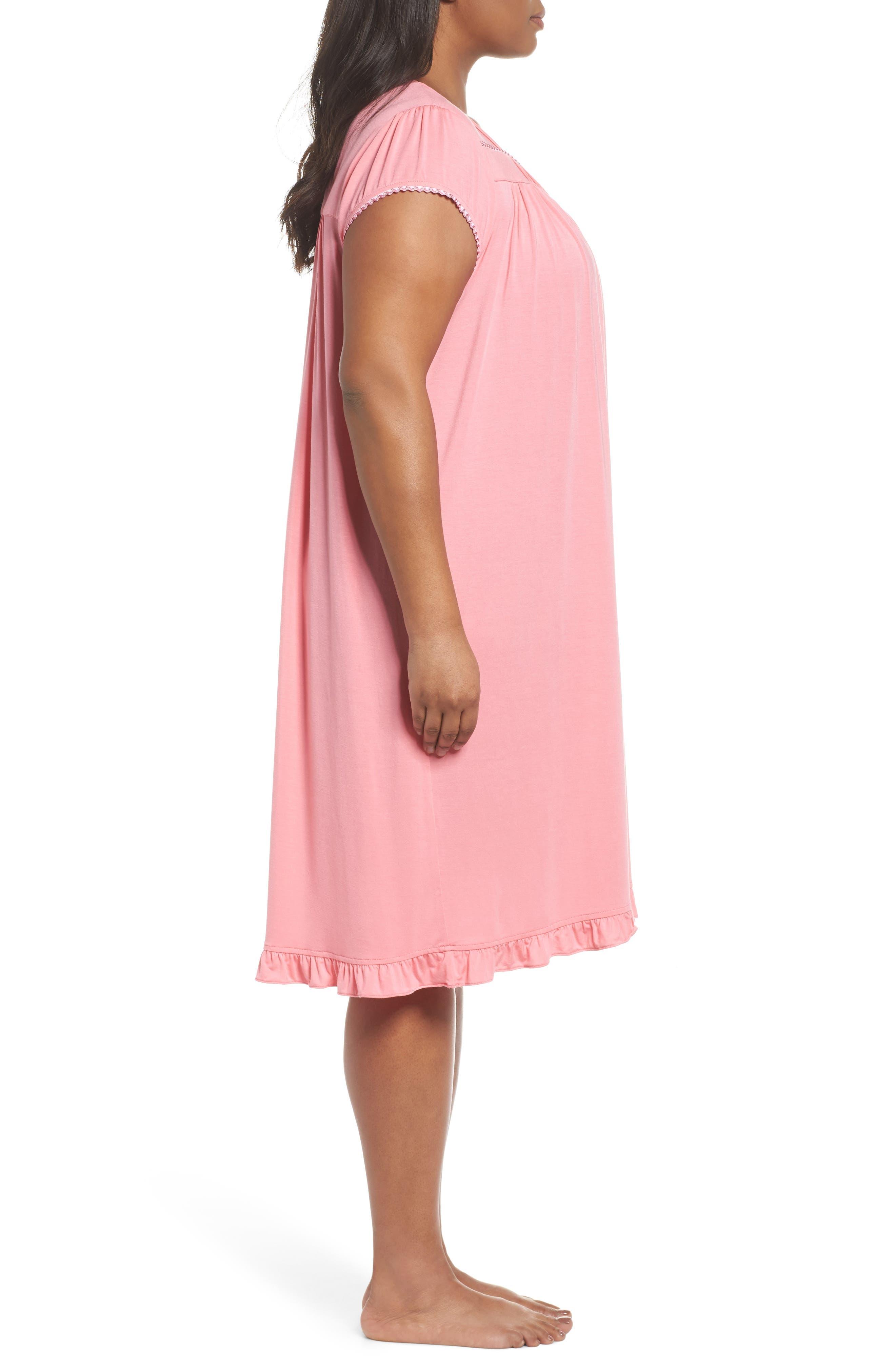 Alternate Image 3  - Eileen West Jersey Waltz Nightgown (Plus Size)