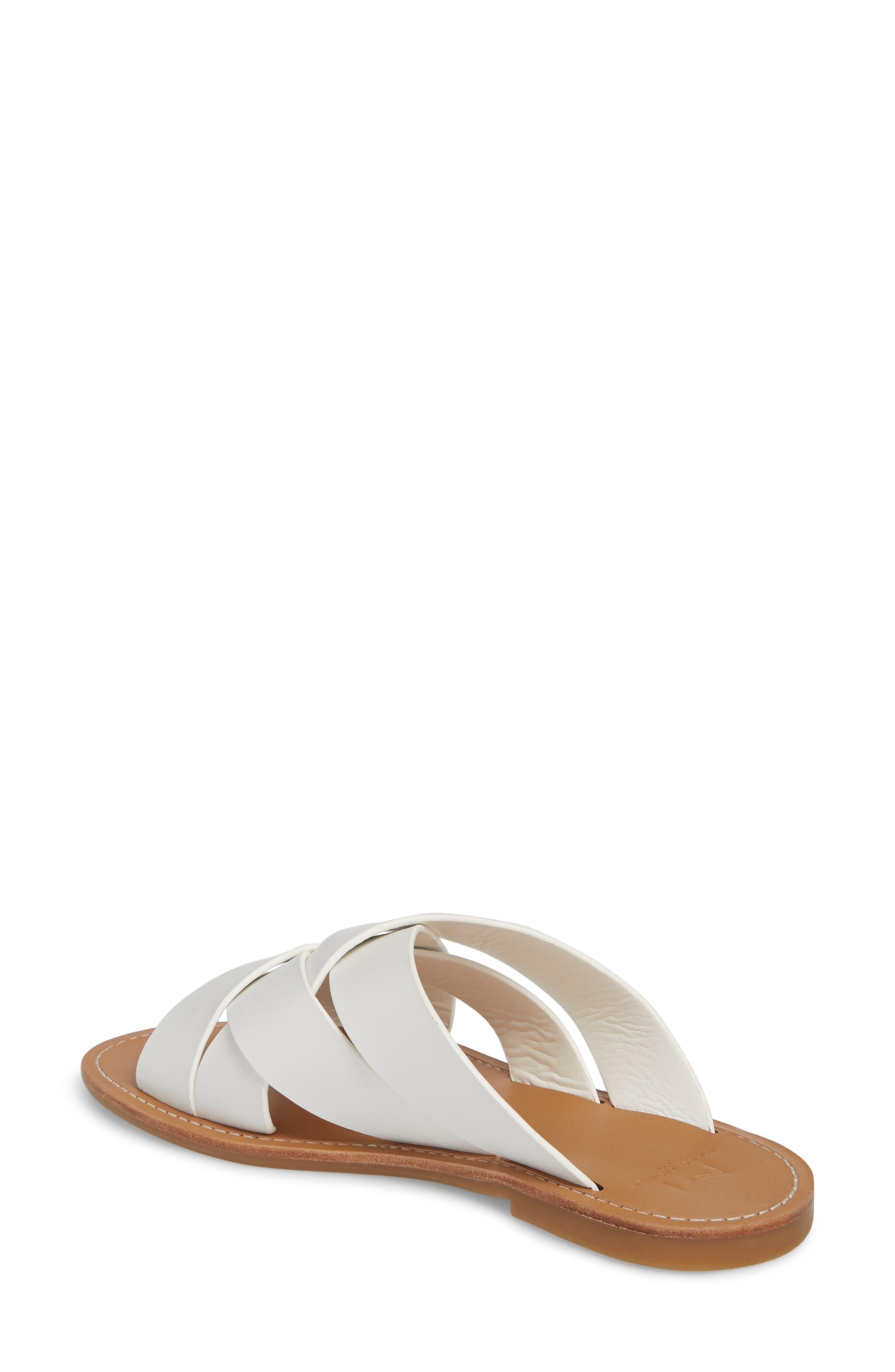 Raida Slide Sandal,                             Alternate thumbnail 2, color,                             White Leather