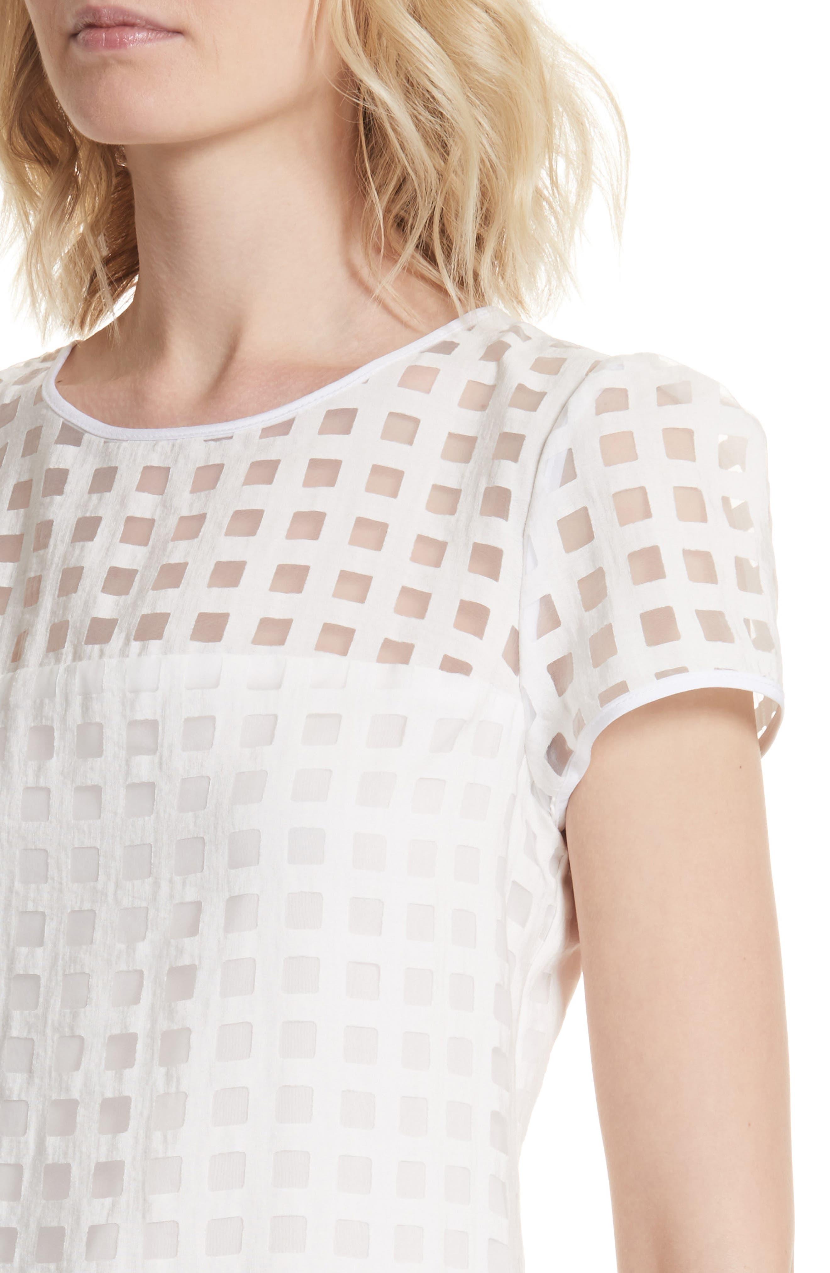 Alternate Image 4  - Milly Chloe Illusion Check Shift Dress