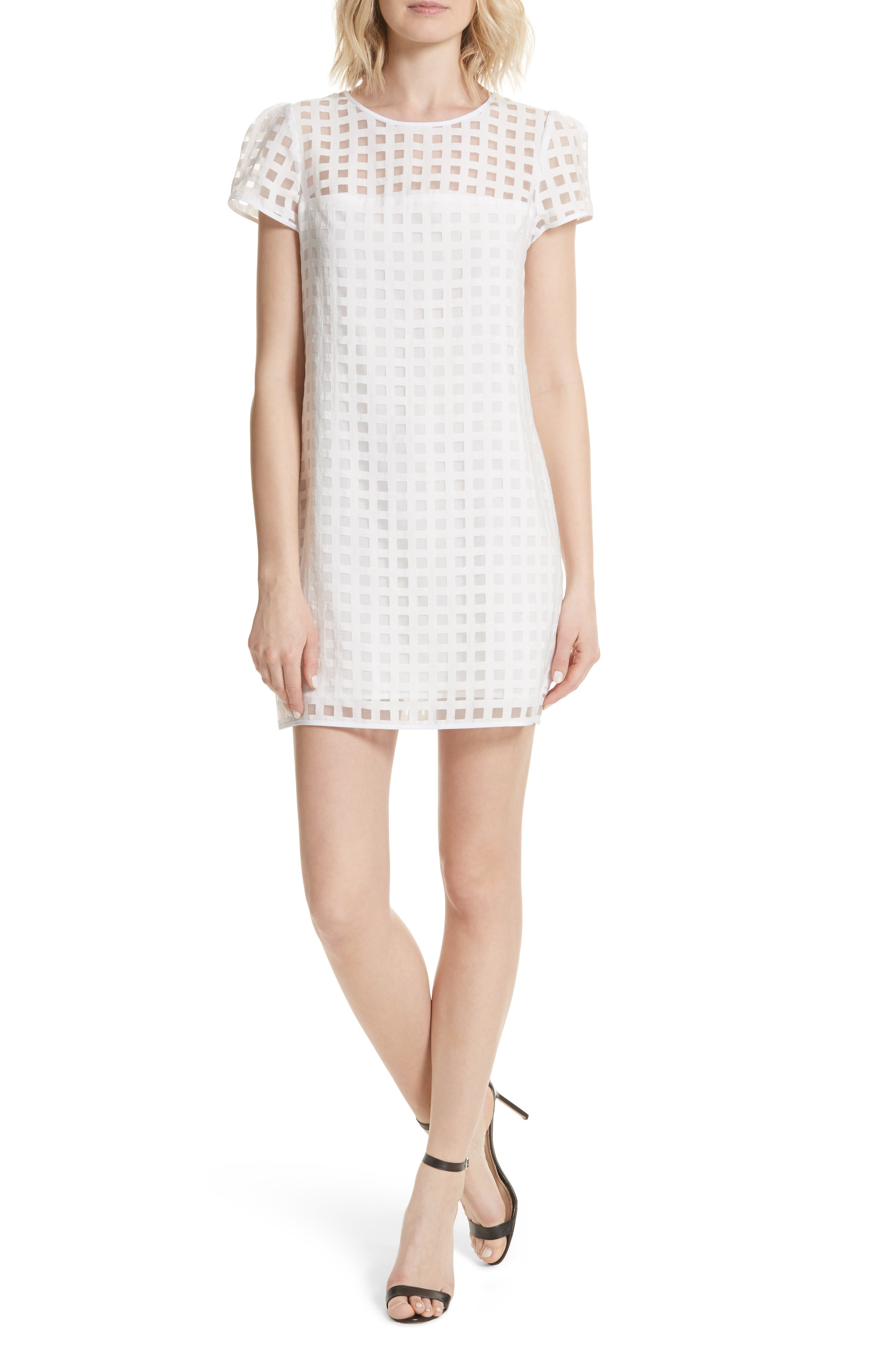 Alternate Image 1 Selected - Milly Chloe Illusion Check Shift Dress