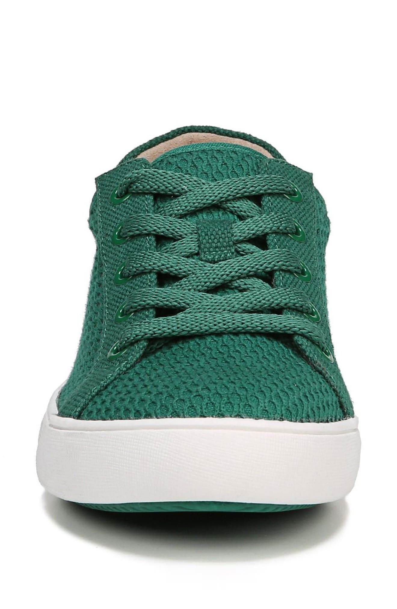 Morrison III Perforated Sneaker,                             Alternate thumbnail 4, color,                             Green Leather