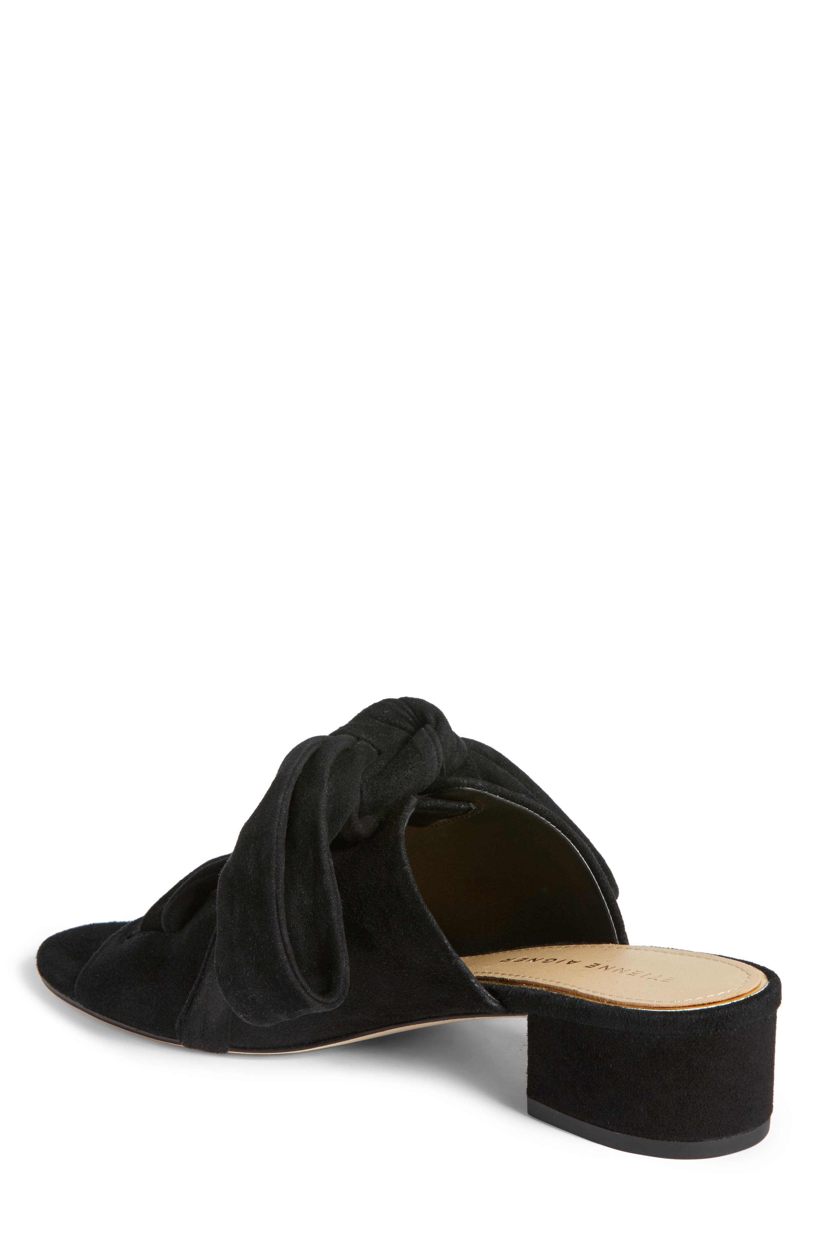 Bermuda Sandal,                             Alternate thumbnail 2, color,                             Black Suede