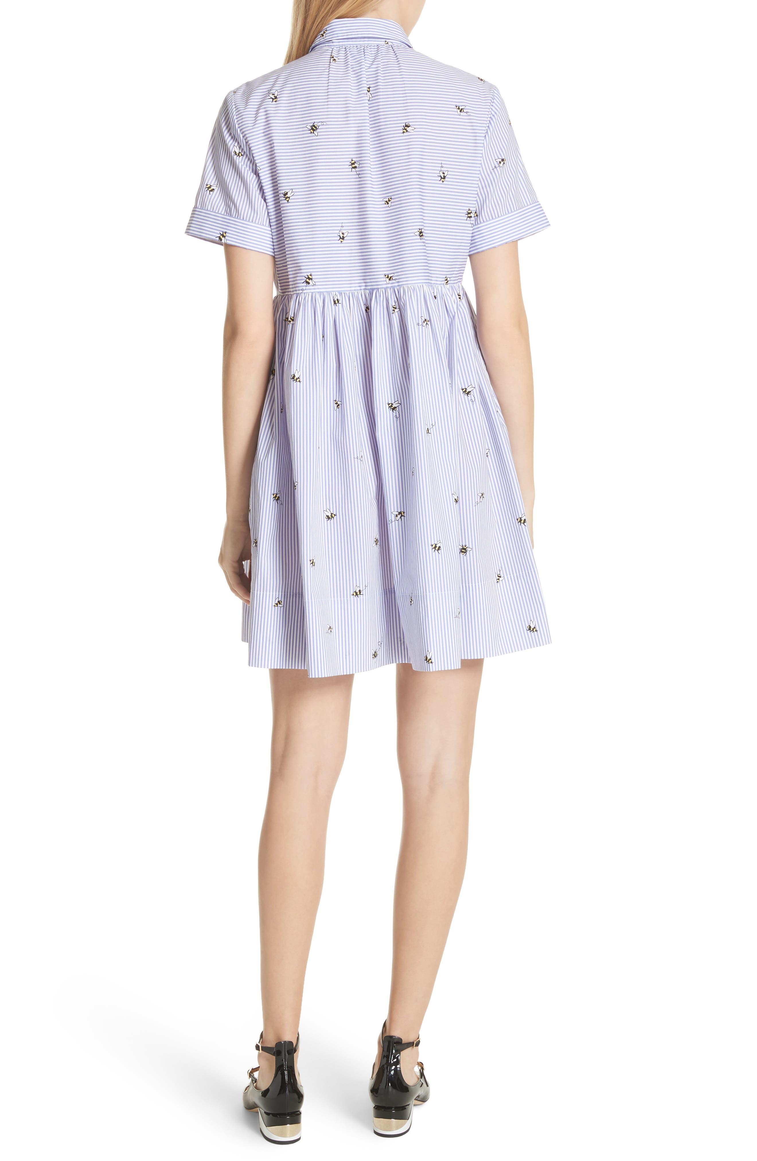 abuzz poplin shirtdress,                             Alternate thumbnail 2, color,                             Fresh White/ Rich Lapis