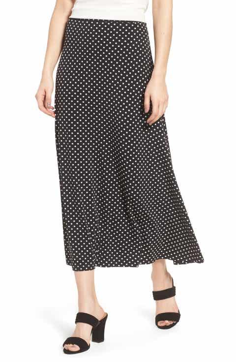 Chaus Polka Dot Maxi Skirt
