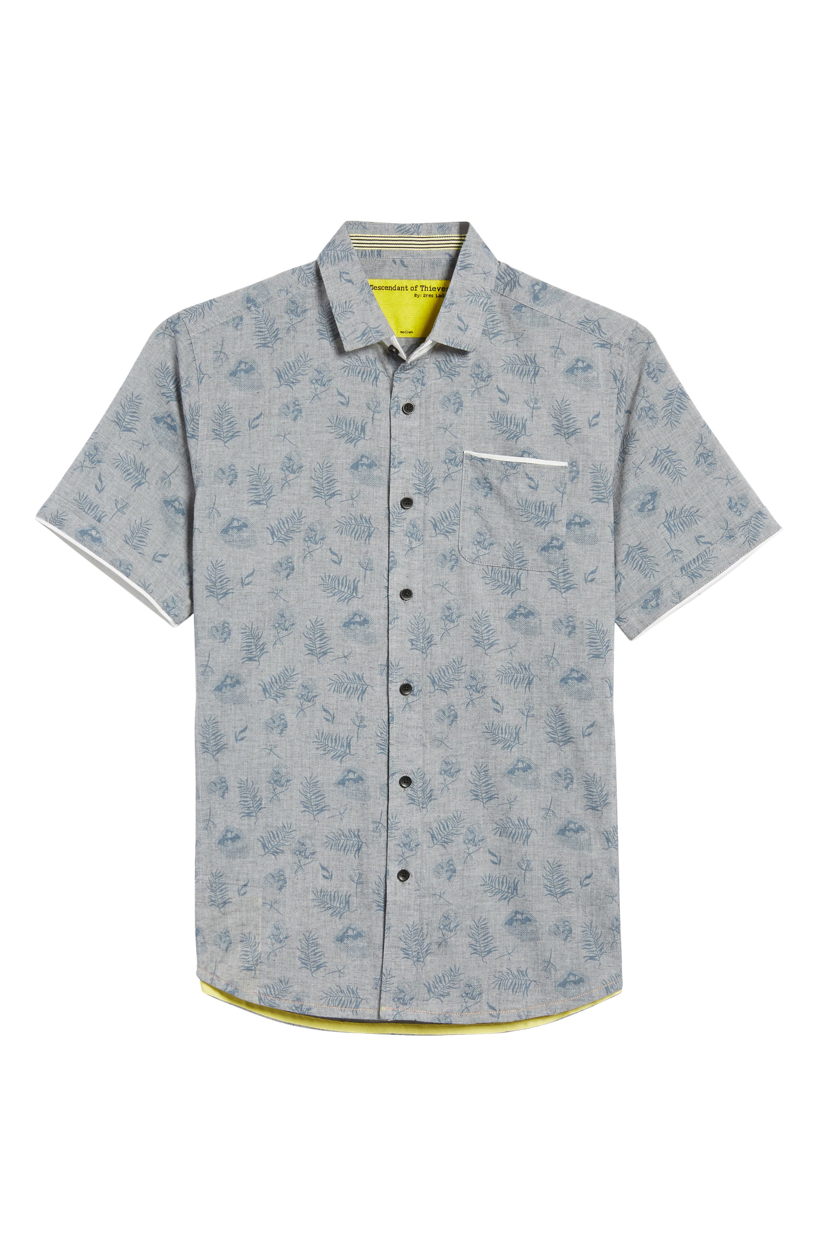 Rock Steady Woven Shirt,                             Alternate thumbnail 6, color,                             Grey