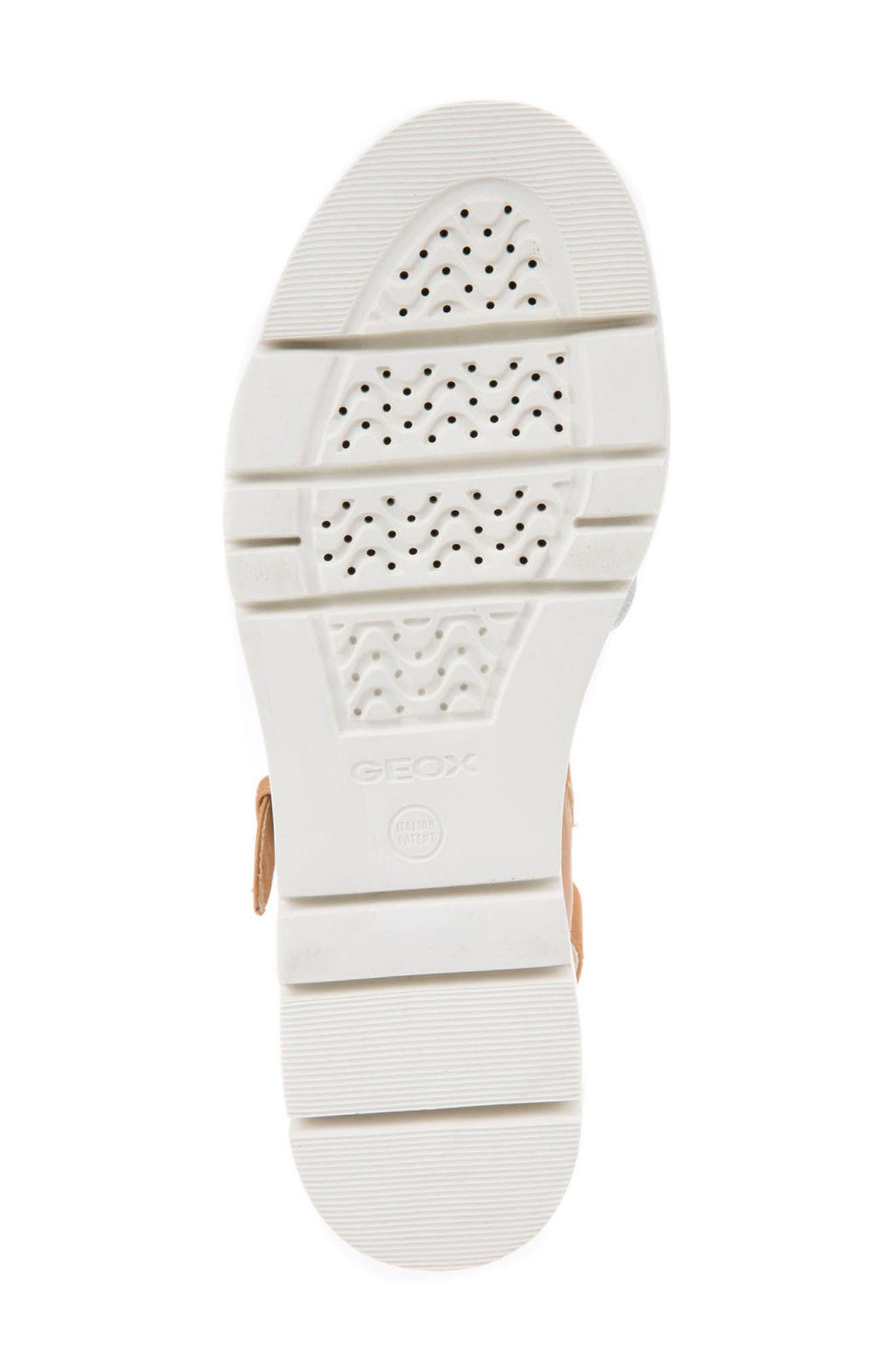 Radwa Platform Sandal,                             Alternate thumbnail 5, color,                             Off White Leather