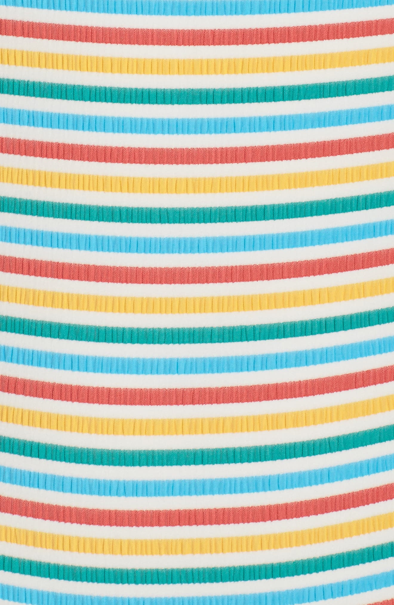 Stripe Low Back One-Piece Swimsuit,                             Alternate thumbnail 5, color,                             Yellow/ Blue/ Red