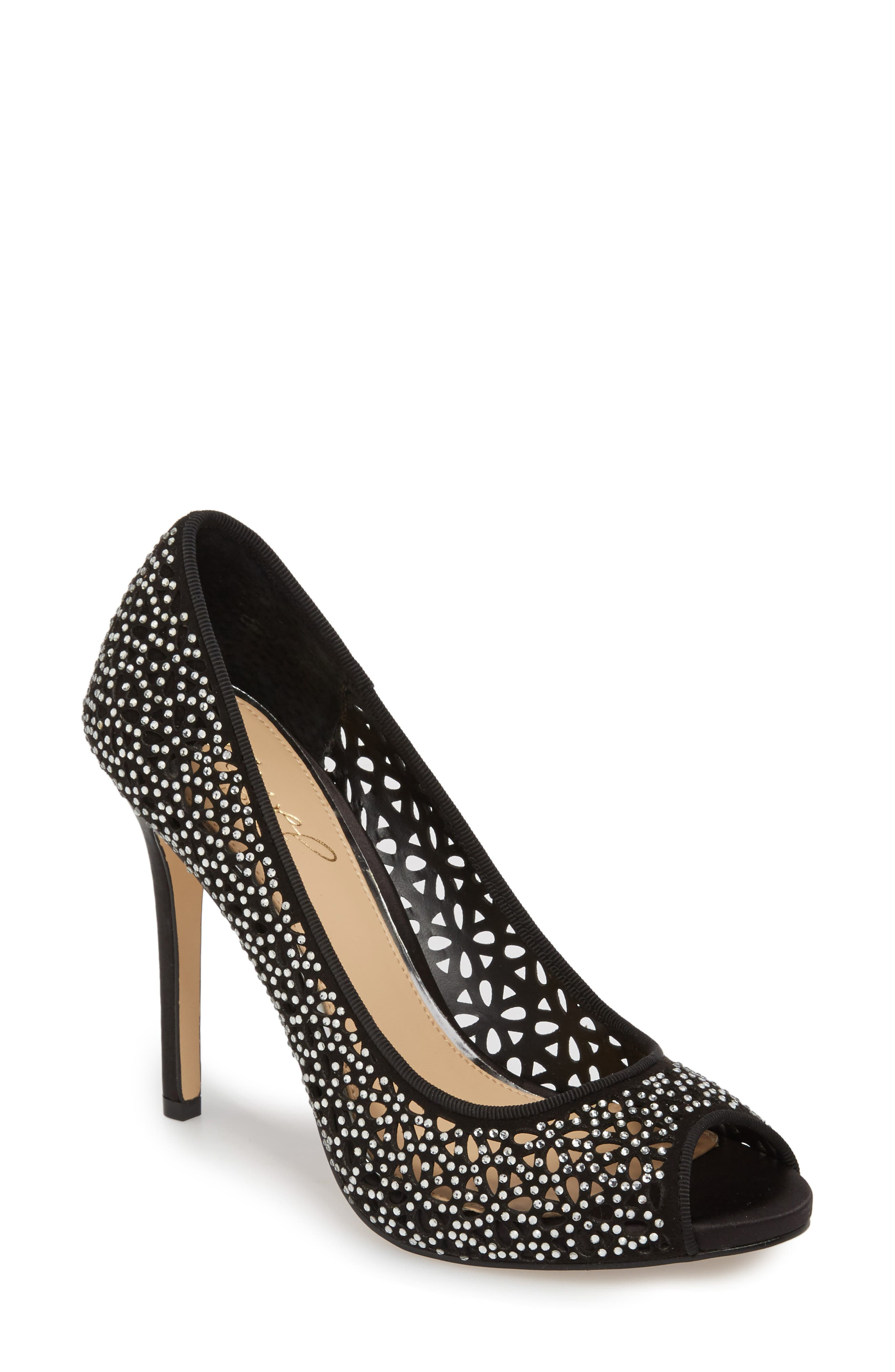 Jewel Badgley Mischka Tammi Peep Toe Pump (Women)