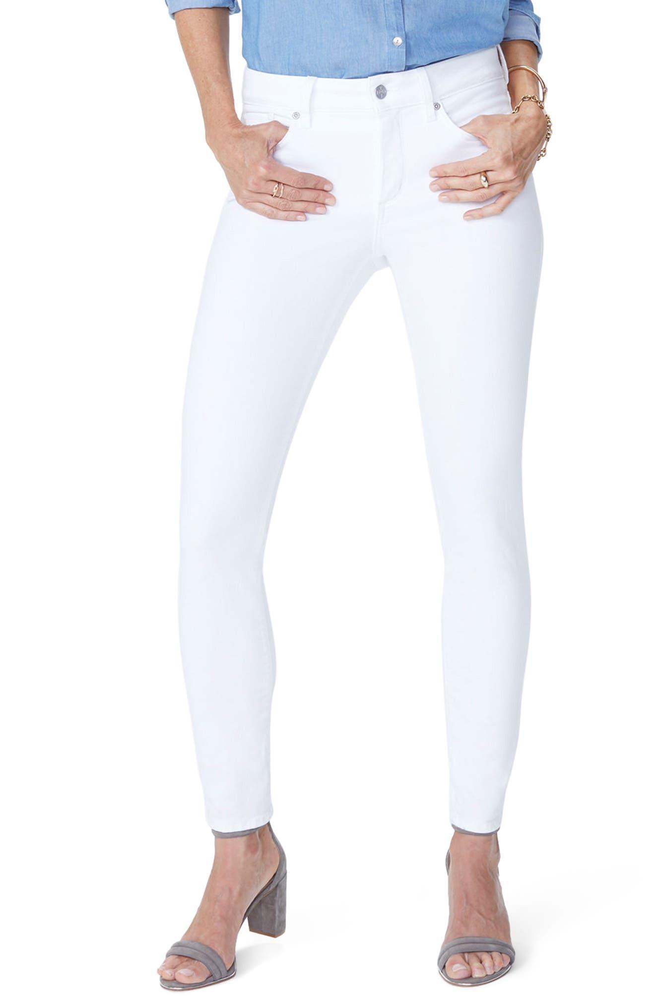 Ami Skinny Jeans,                             Main thumbnail 1, color,                             Optic White