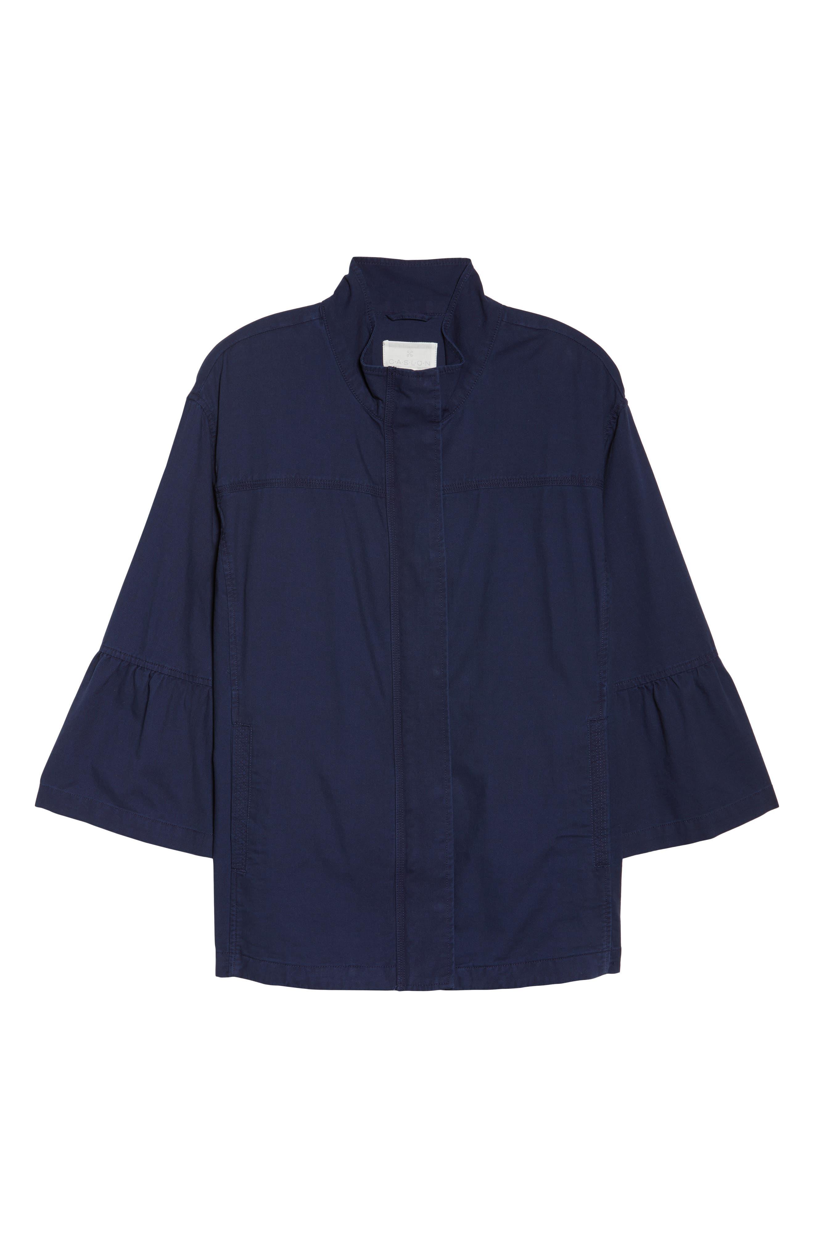 Alternate Image 6  - Caslon® Bell Sleeve Utility Jacket (Plus Size)