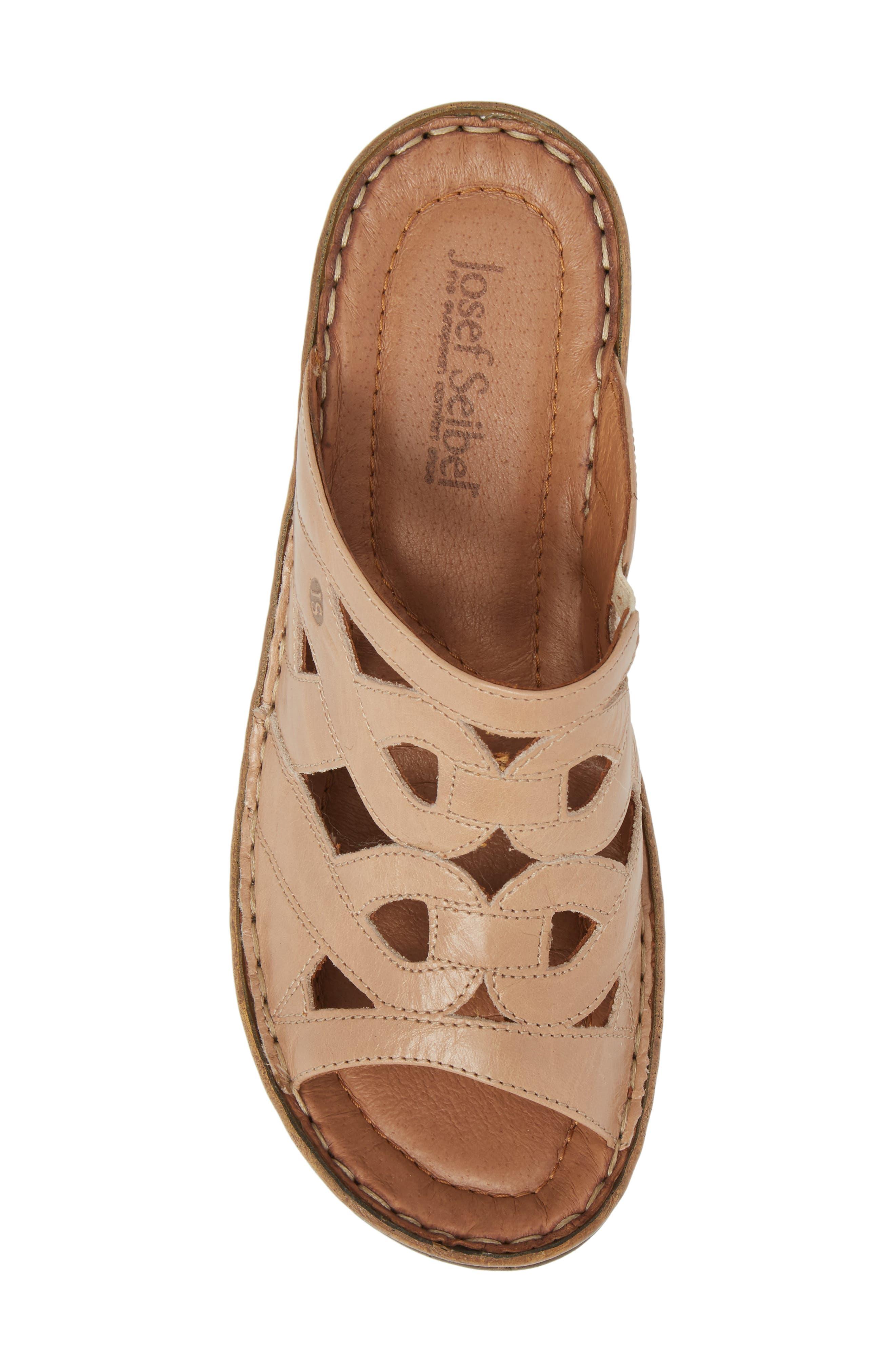 Catalonia 44 Slide Sandal,                             Alternate thumbnail 5, color,                             Beige Leather