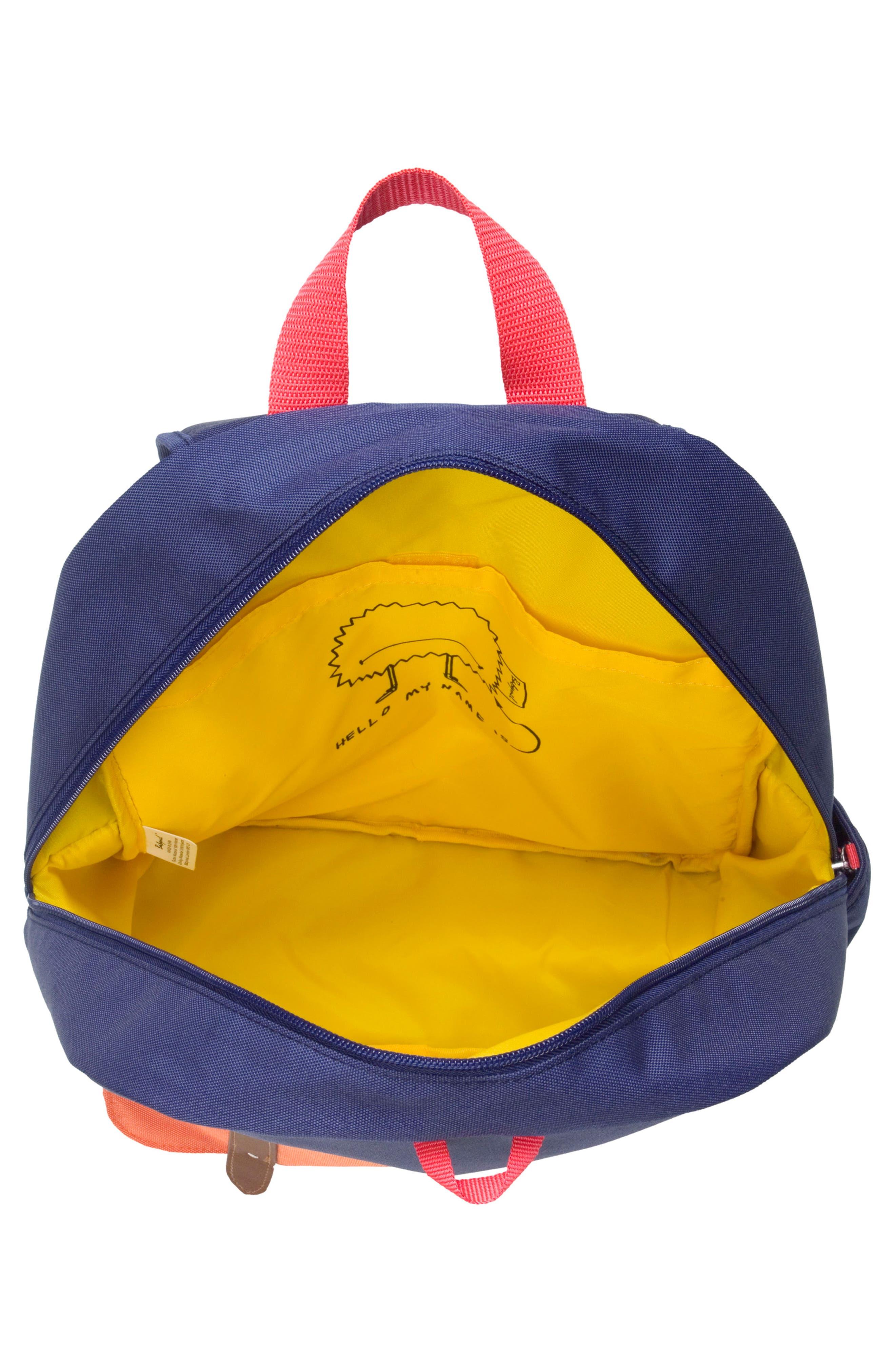 Zip & Zoe Colorblock Junior Backpack,                             Alternate thumbnail 5, color,                             Blue