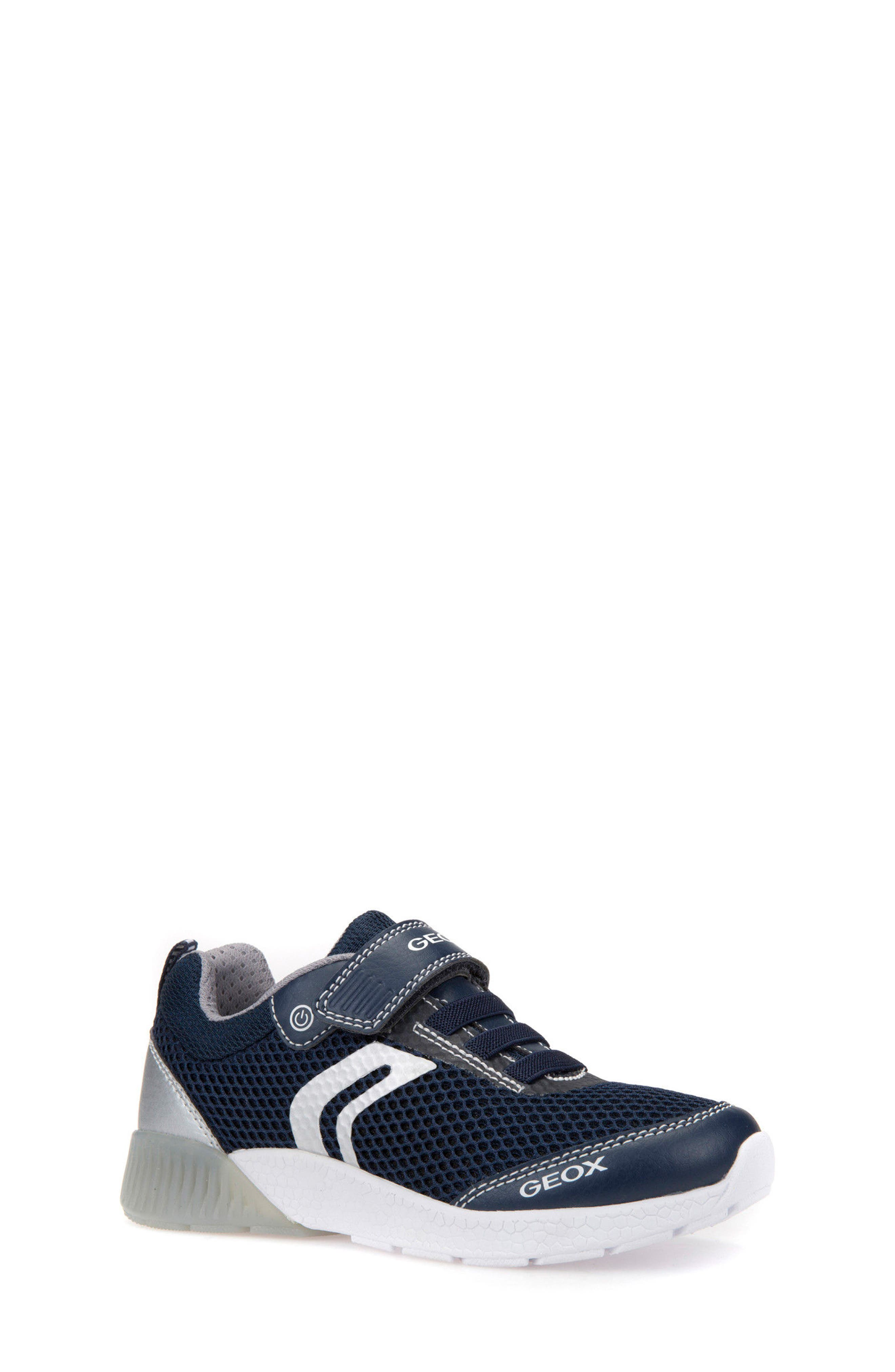 Sveth Light-Up Sneaker,                             Main thumbnail 1, color,                             Navy/ Silver