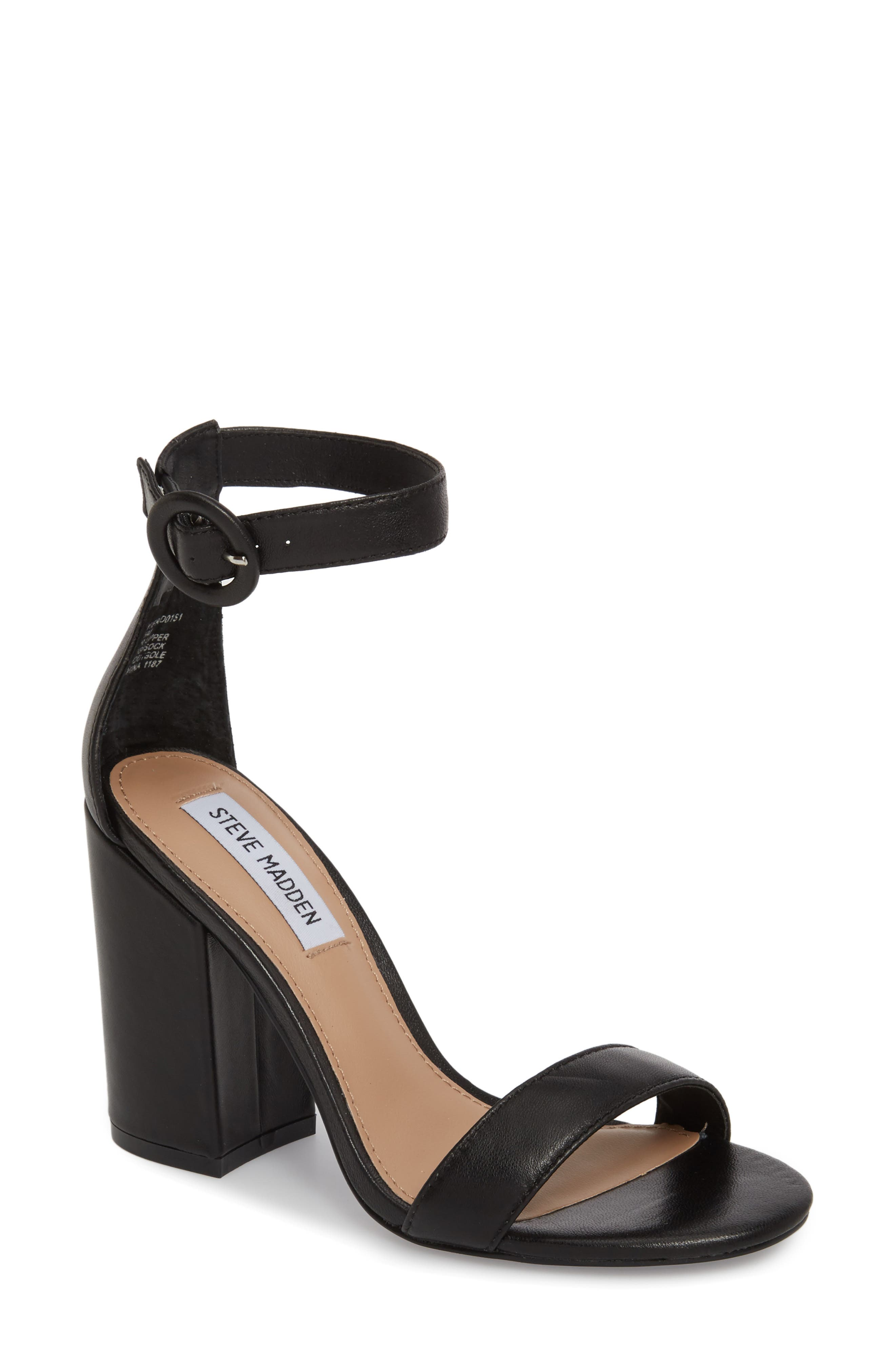 Friday Sandal,                         Main,                         color, Black Leather