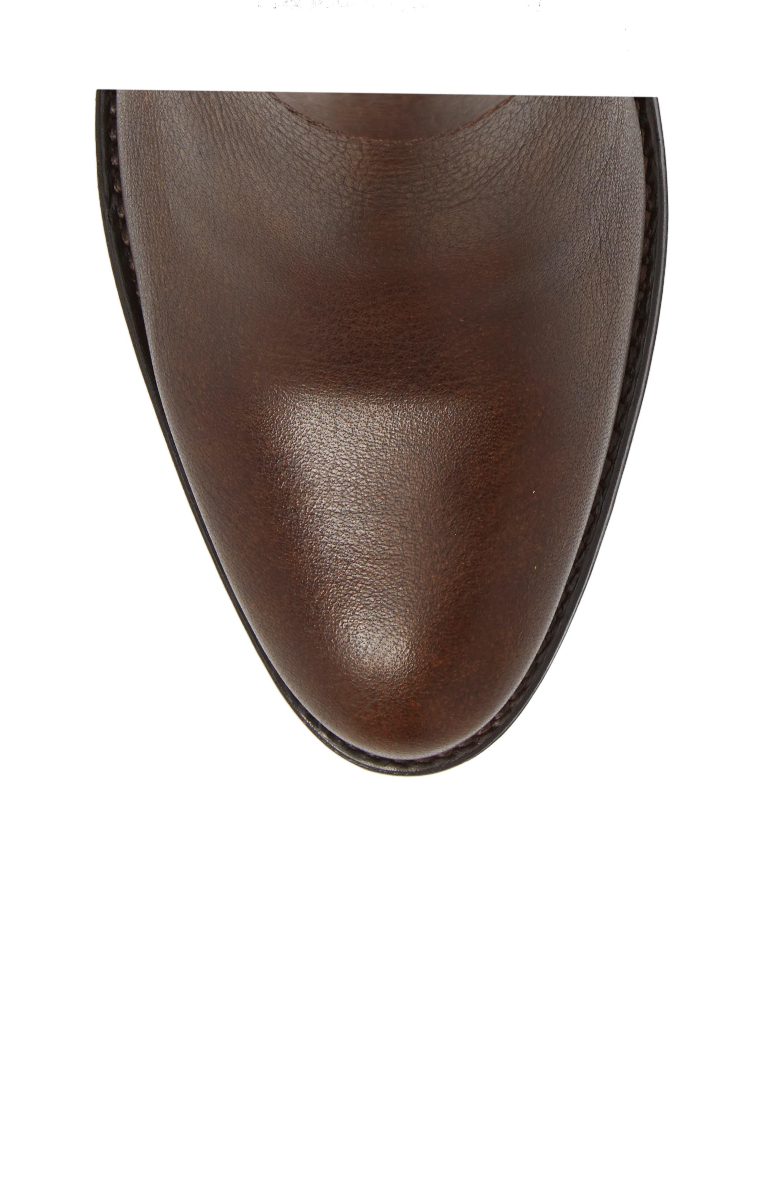 Suances Bootie,                             Alternate thumbnail 5, color,                             Cognac Leather