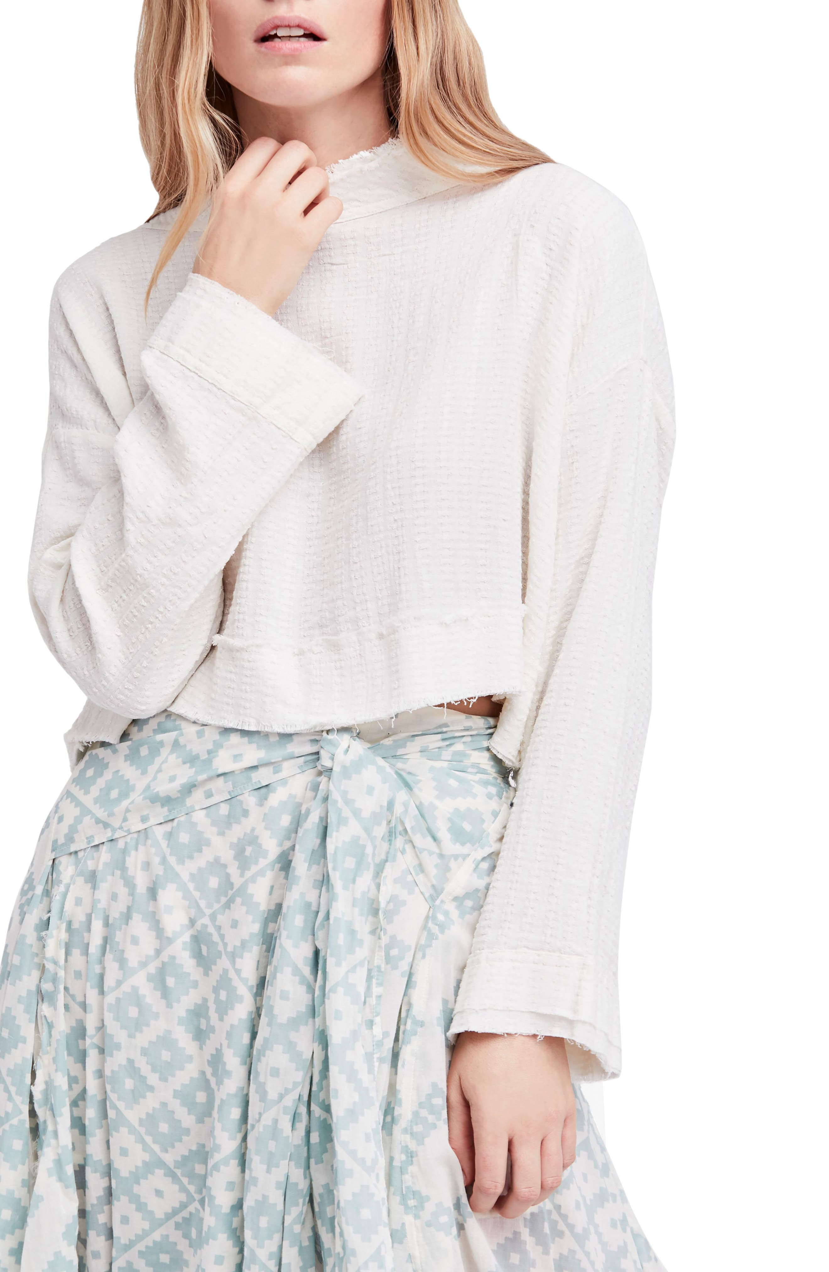 Waking in Hueco Crop Sweater,                         Main,                         color, Ivory