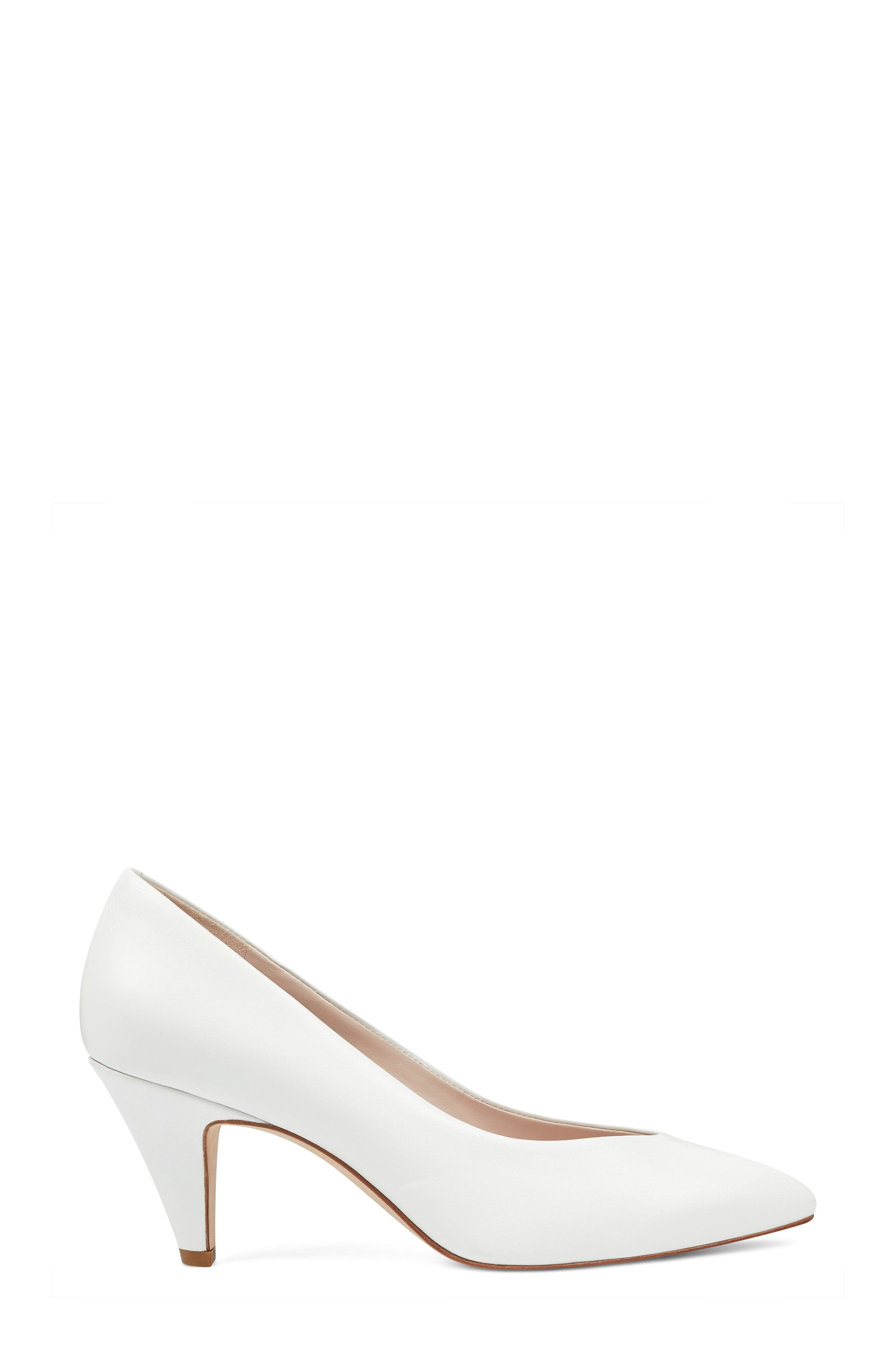 Faith - 40th Anniversary Capsule Collection Pump,                             Alternate thumbnail 3, color,                             White Leather