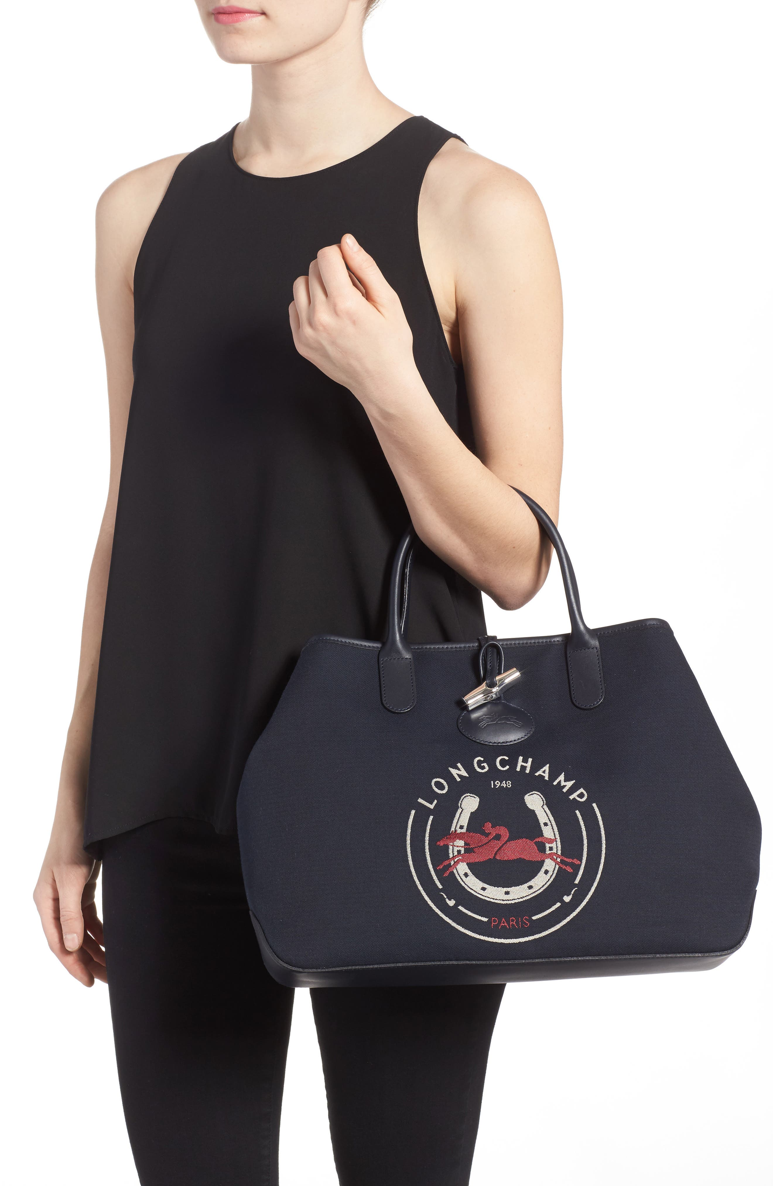 Roseau 1948 Tote,                             Alternate thumbnail 2, color,                             Navy