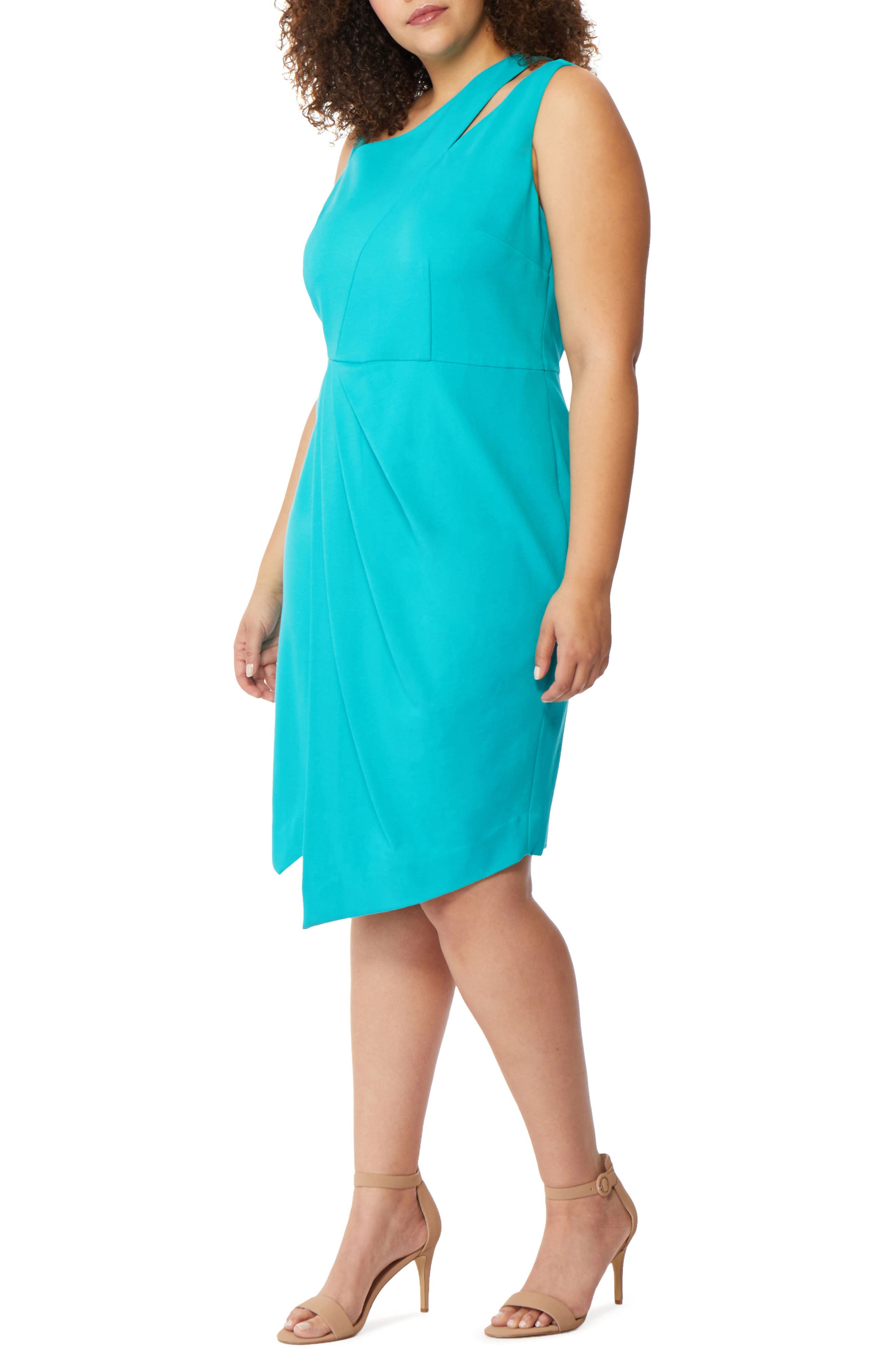 Rebel Wilson x Angels Asymmetrical Cutout Sheath Dress (Plus Size)