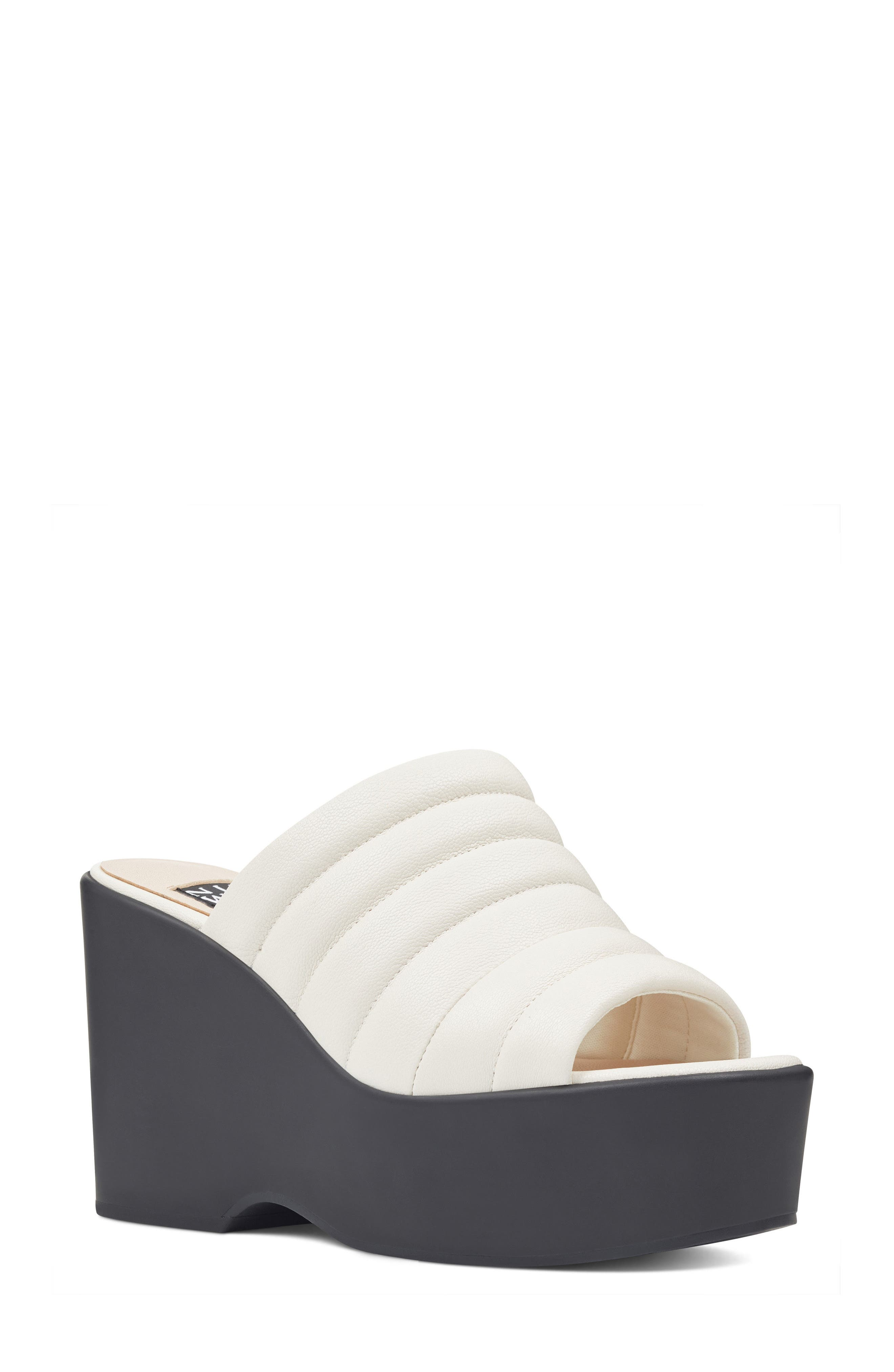 Millie - 40th Anniversary Capsule Collection Platform Wedge,                             Main thumbnail 1, color,                             Off White Leather