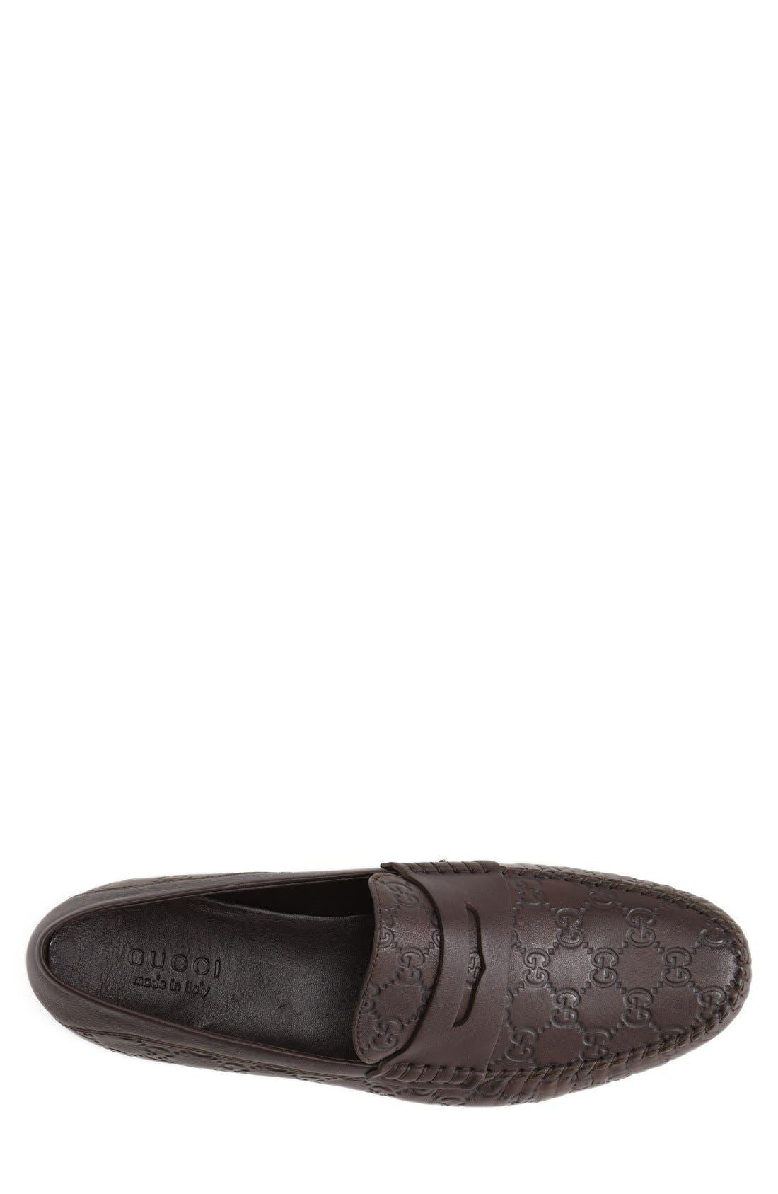 San Marino Driving Shoe,                             Alternate thumbnail 3, color,                             Dark Chocolate