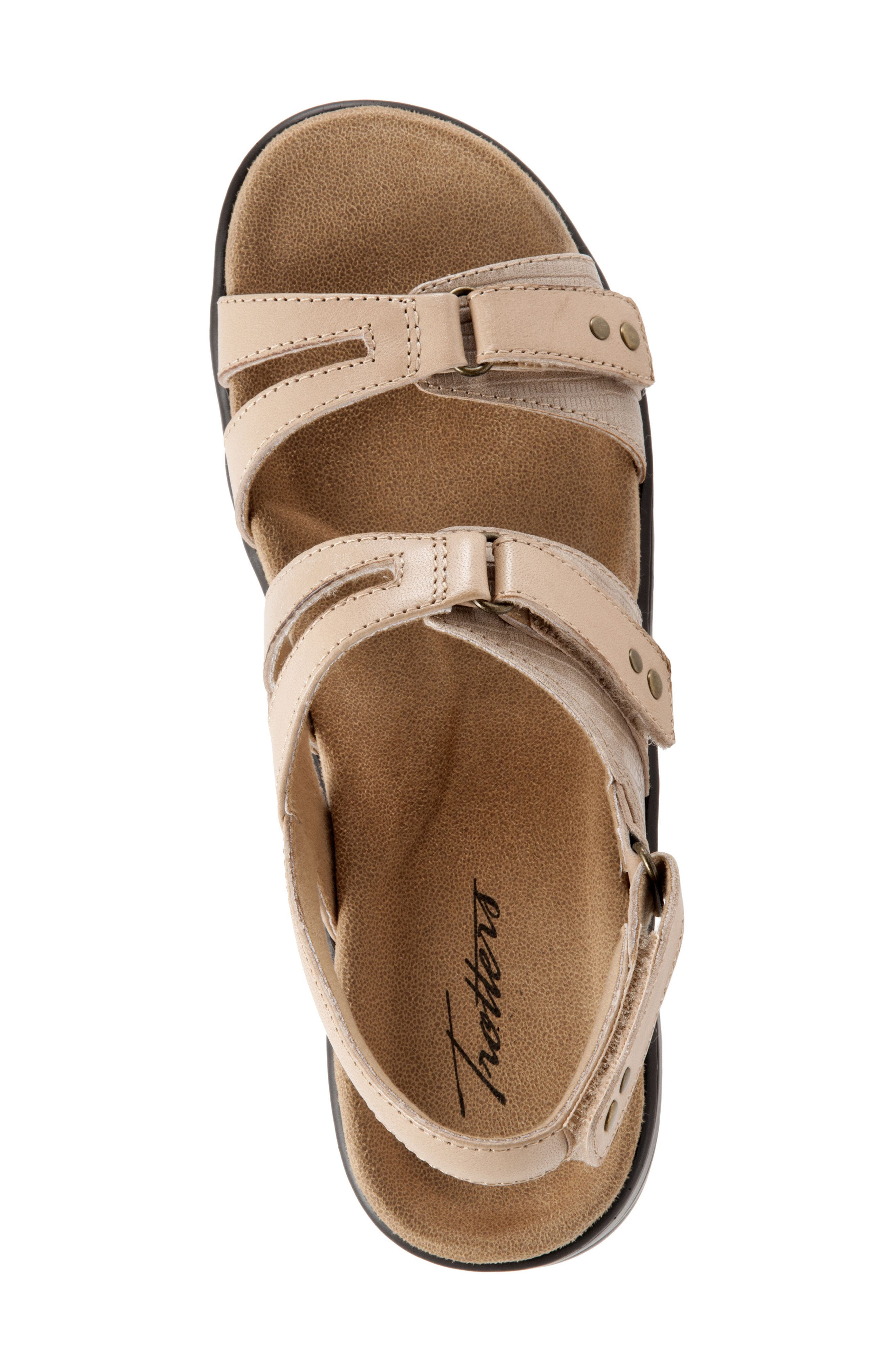 Newton Sandal,                             Alternate thumbnail 5, color,                             Beige/ Off White Leather