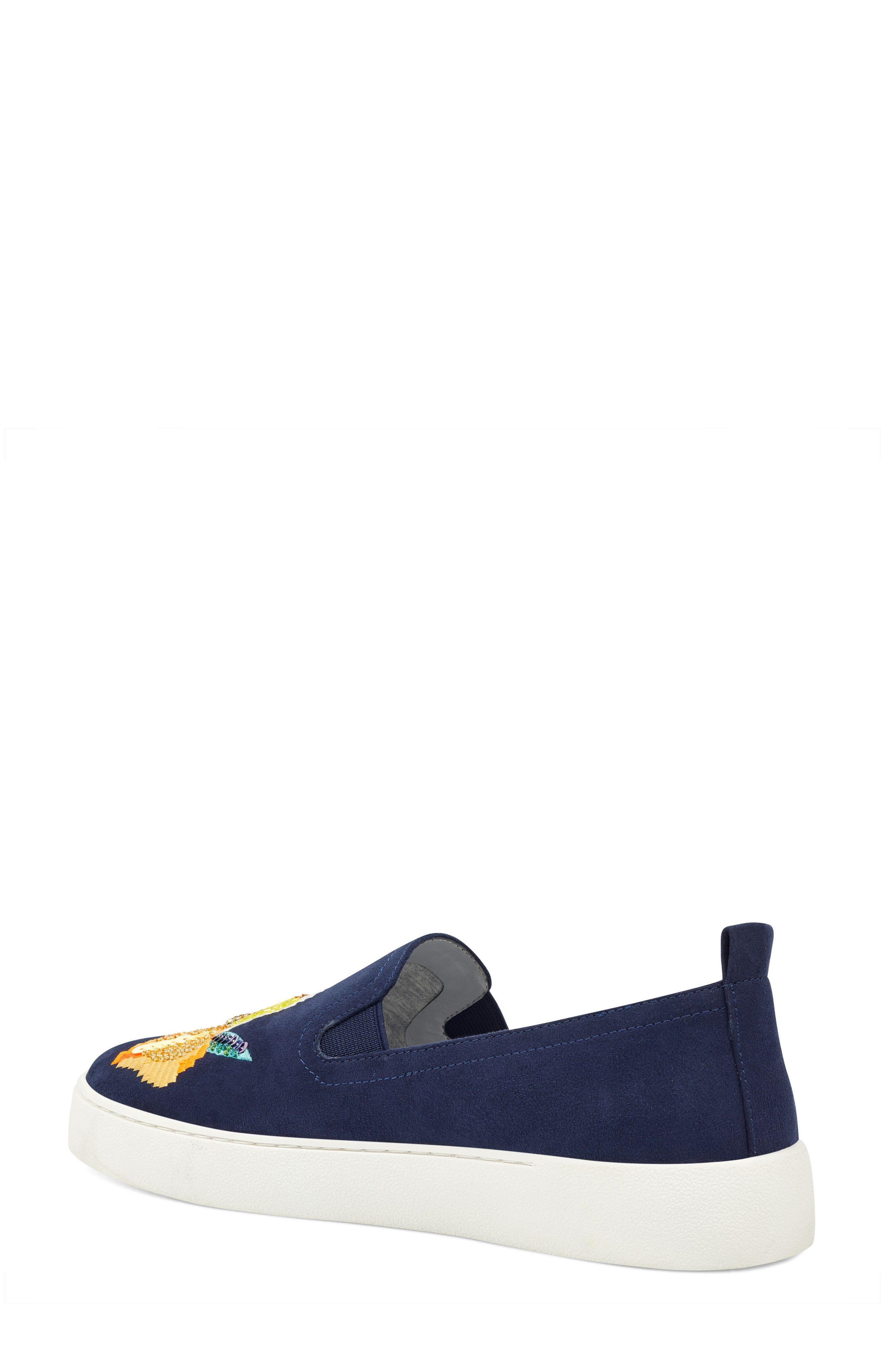 Playavista Slip-On Sneaker,                             Alternate thumbnail 2, color,                             Navy Suede