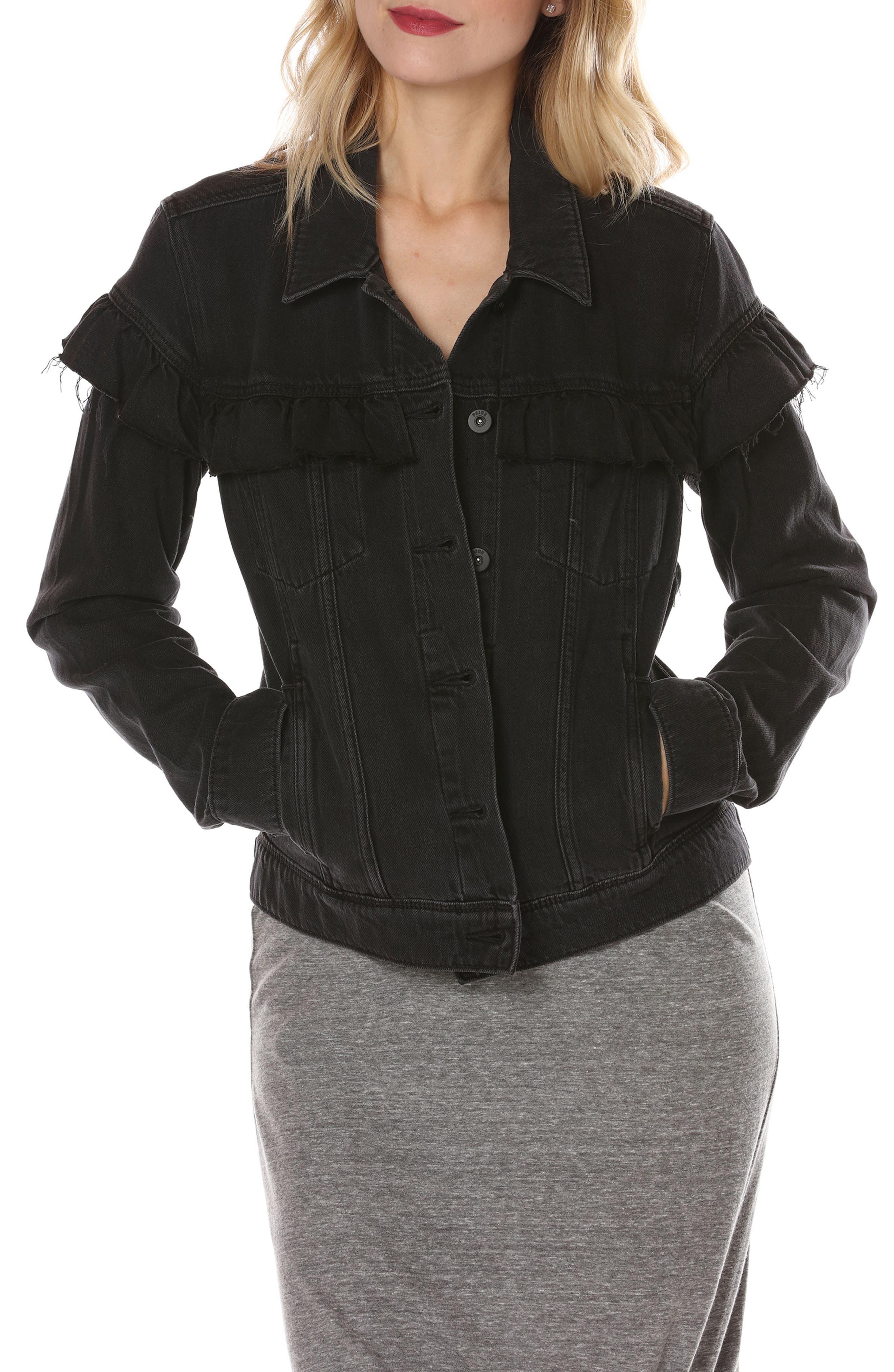PAIGE Heidi Ruffle Denim Jacket