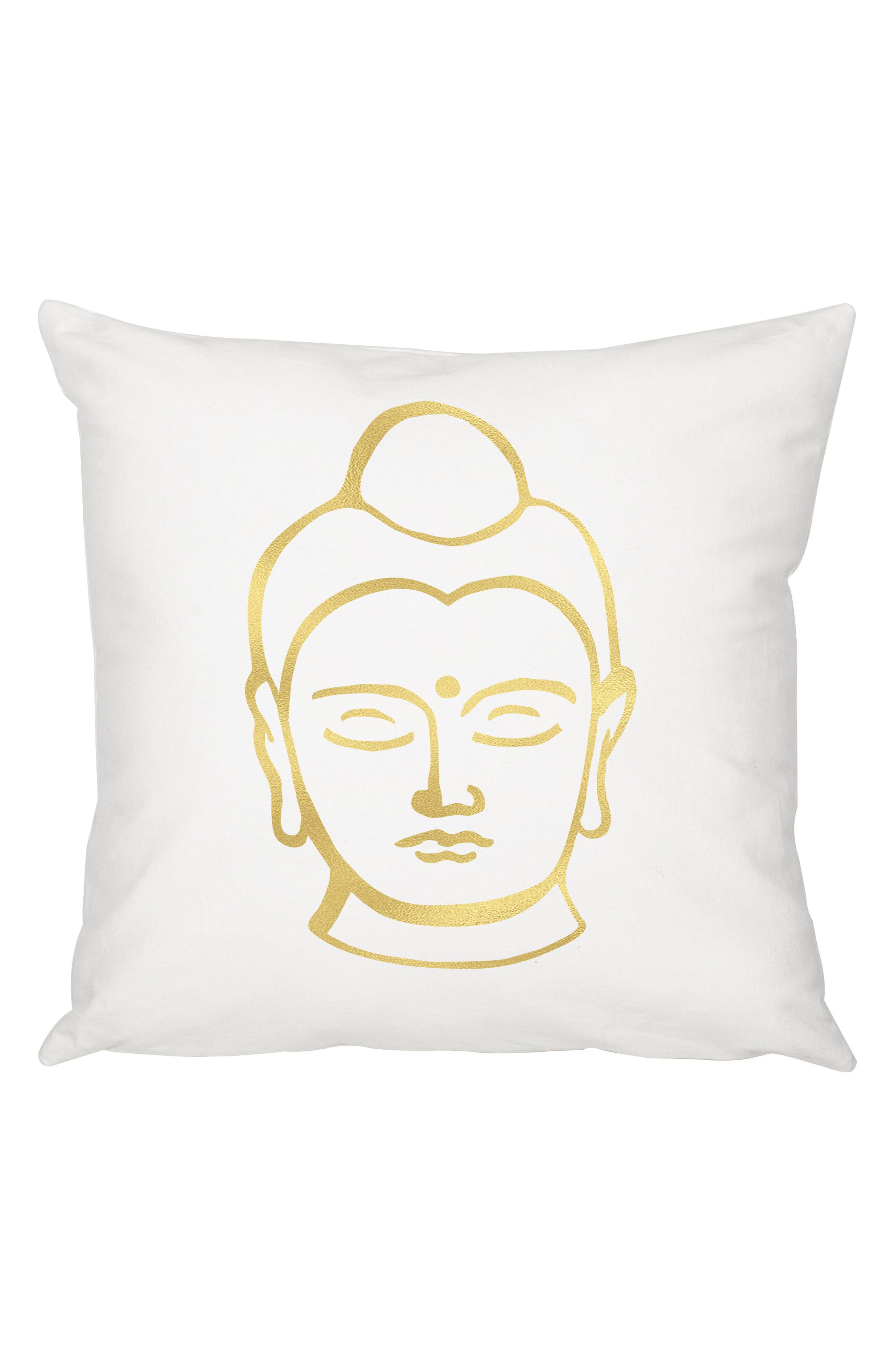 Buddha Accent Pillow,                             Main thumbnail 1, color,                             Gold