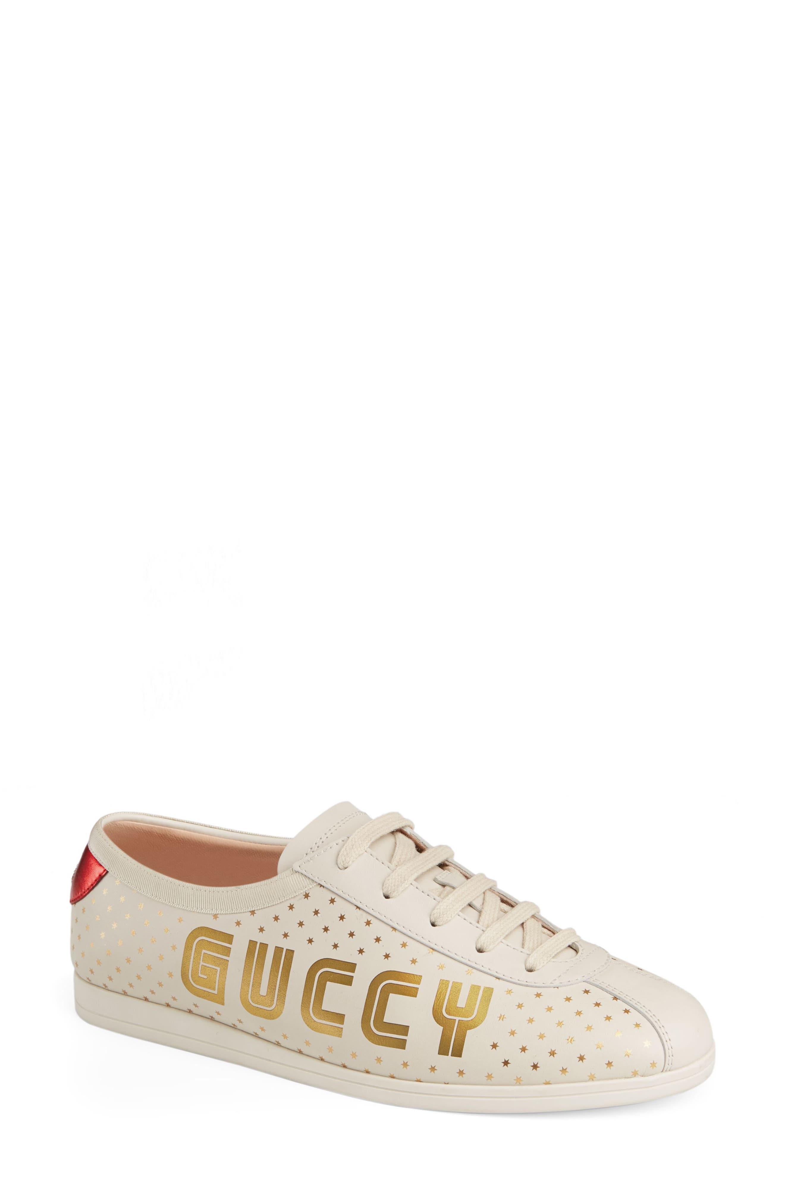 Falacer Guccy Logo Sneaker,                             Main thumbnail 1, color,                             White