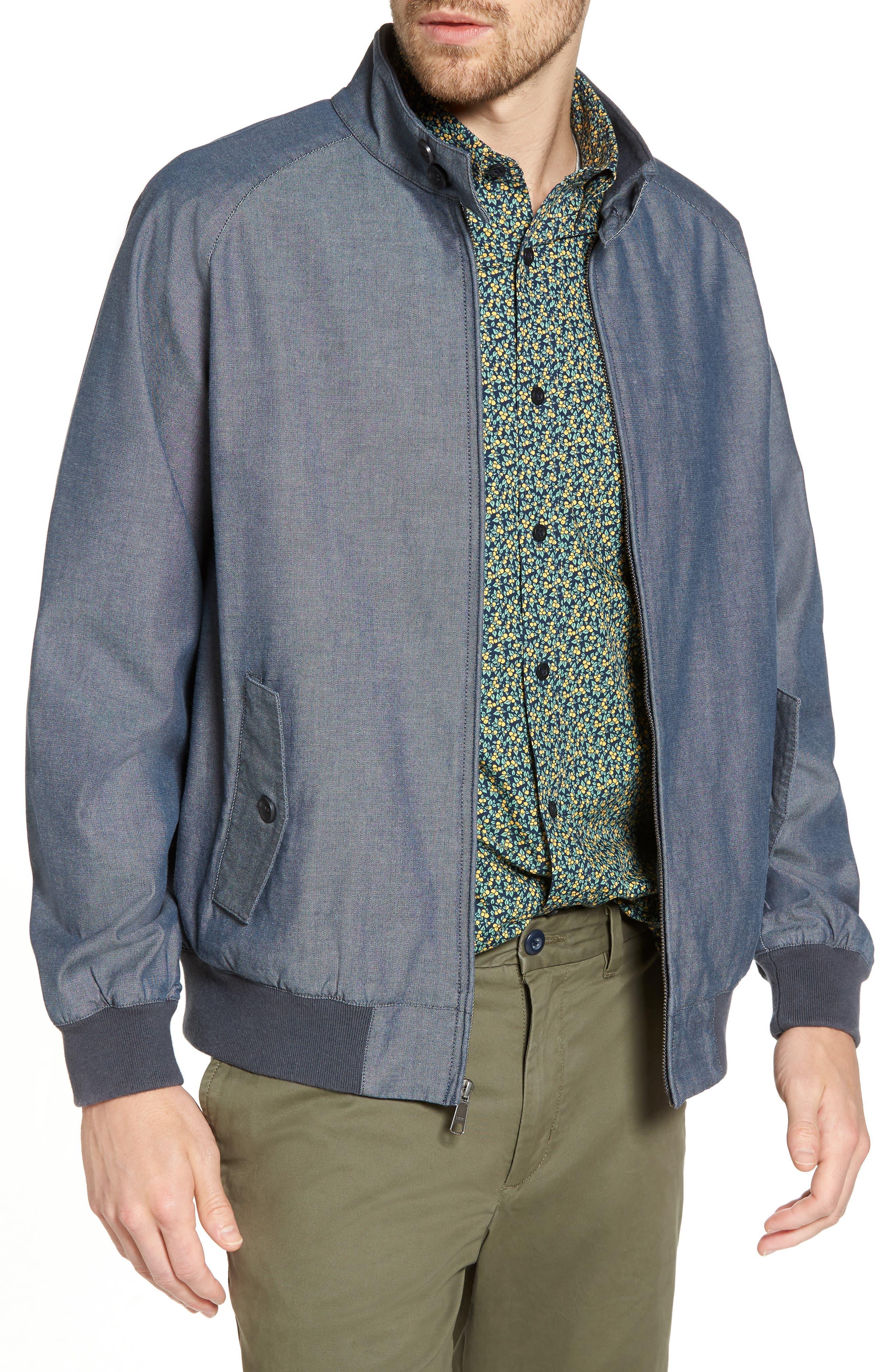 Harrington Jacket,                         Main,                         color, Blue Vintage Chambray