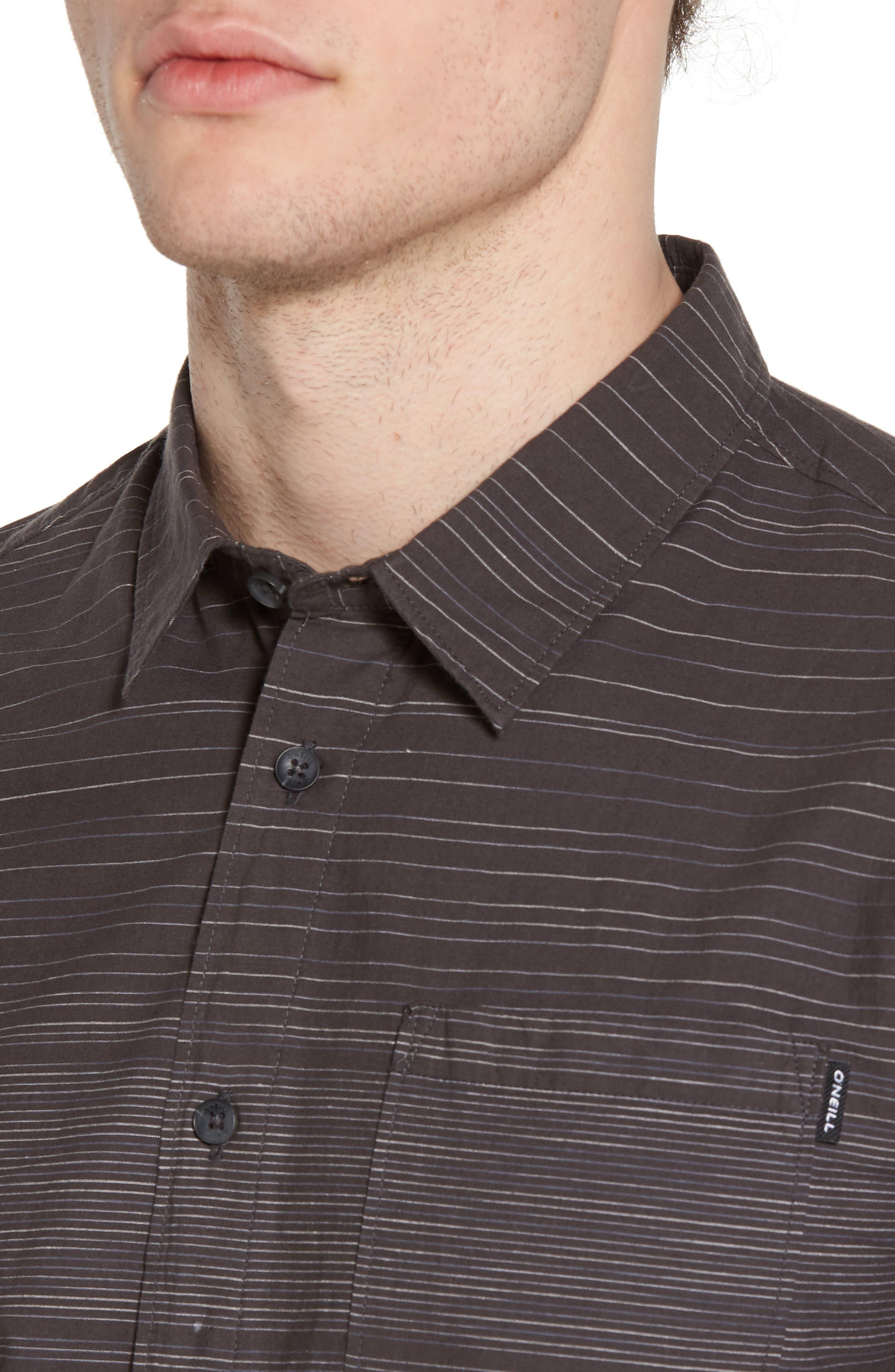 Hound Woven Shirt,                             Alternate thumbnail 4, color,                             Asphalt