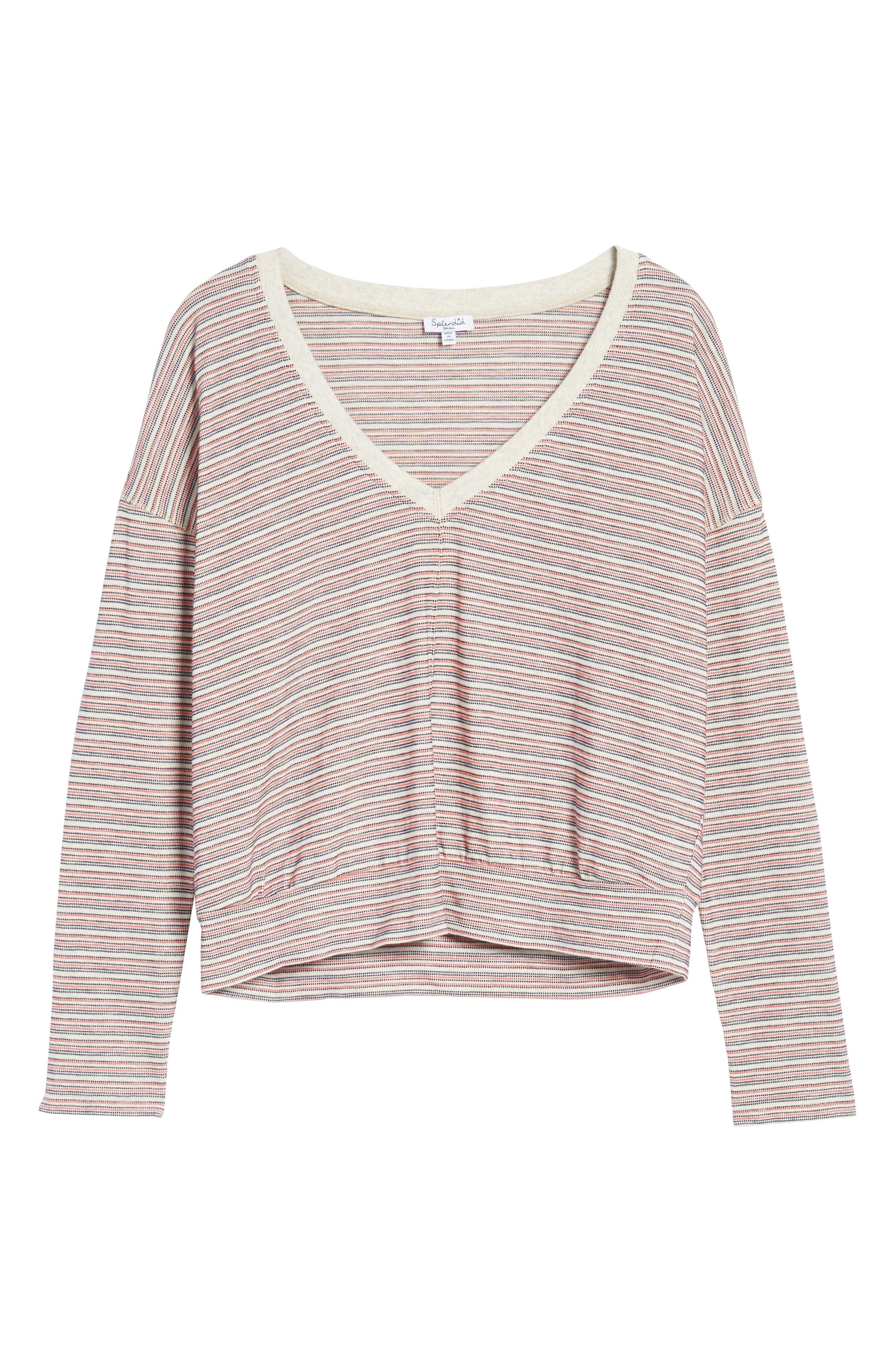 Stripe Pullover,                             Alternate thumbnail 6, color,                             Off White