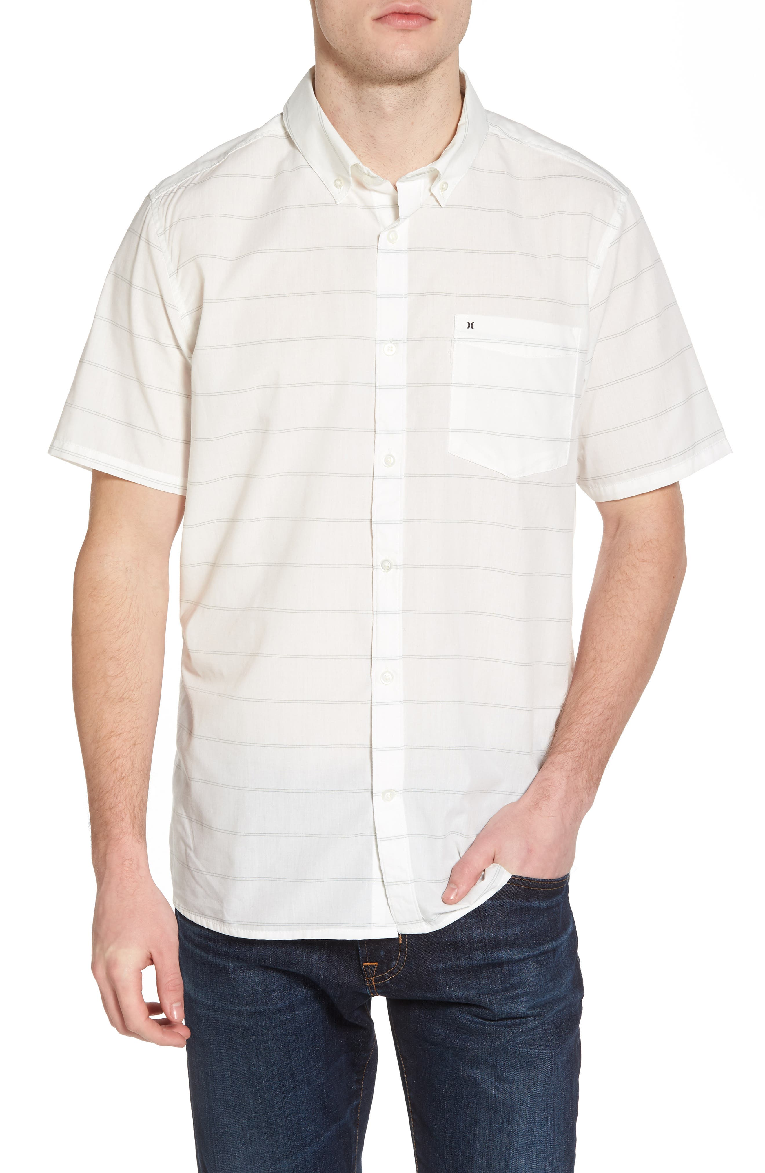 Reeder Dry Woven Shirt,                             Main thumbnail 1, color,                             Sail