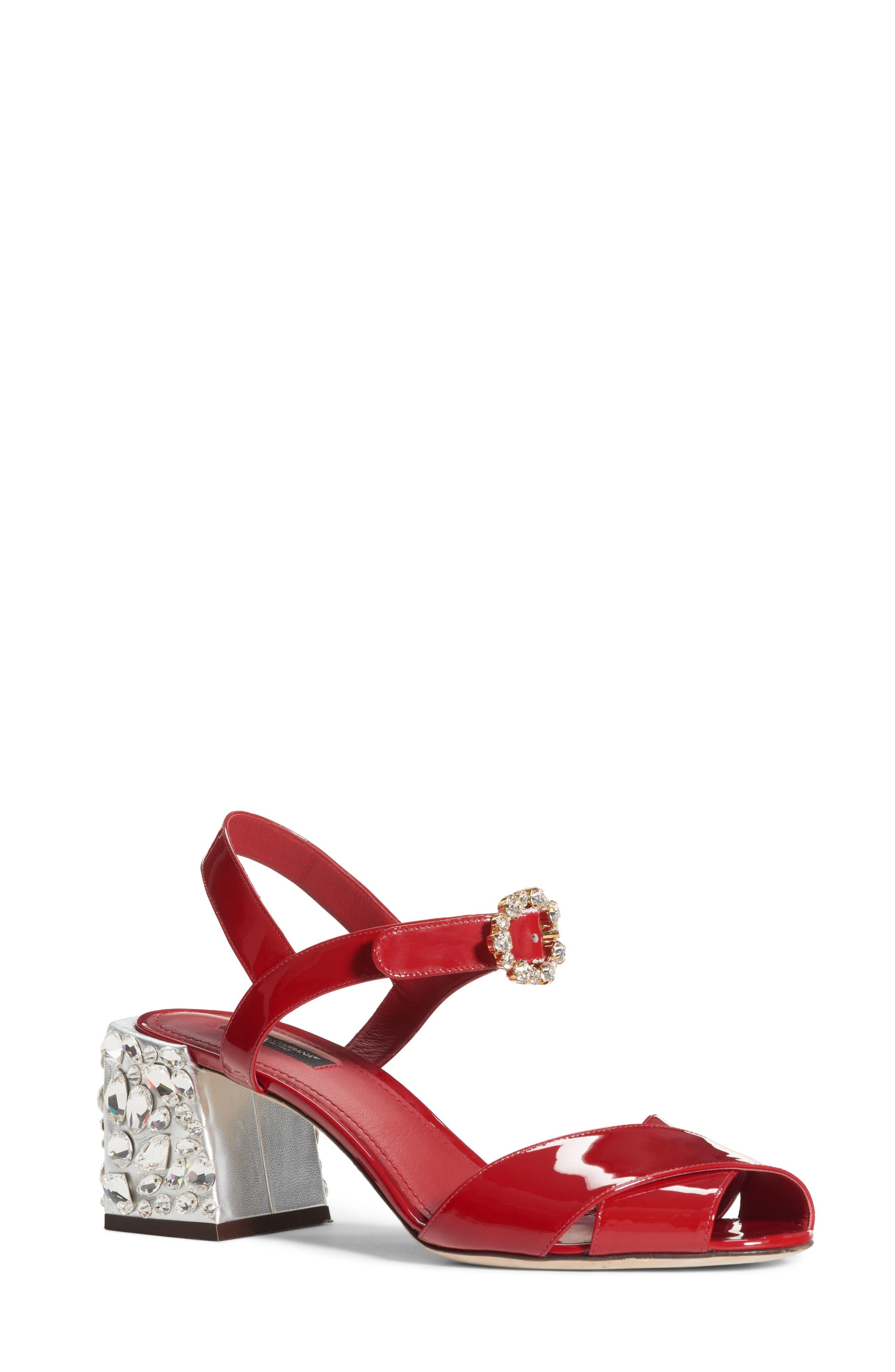 Alternate Image 1 Selected - Dolce&Gabbana Crystal Embellished Sandal (Women)
