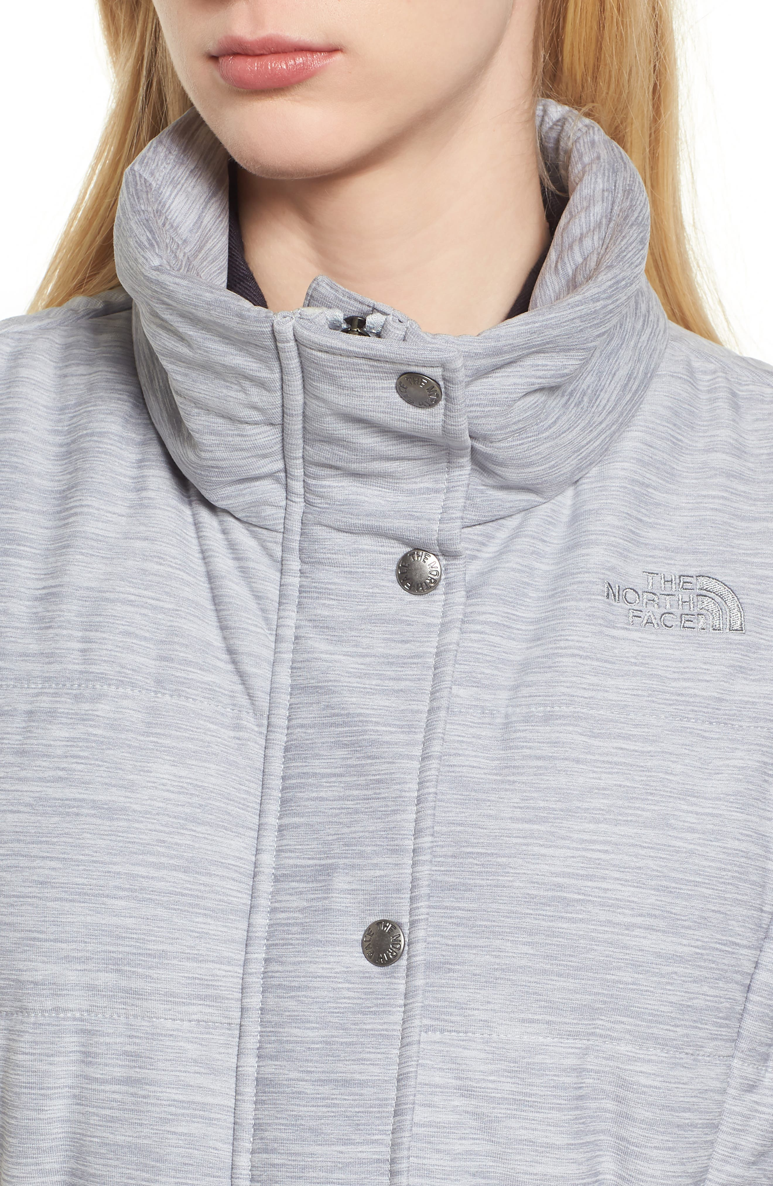 'Pseudio' Quilted Vest,                             Alternate thumbnail 6, color,                             Light Grey Heather
