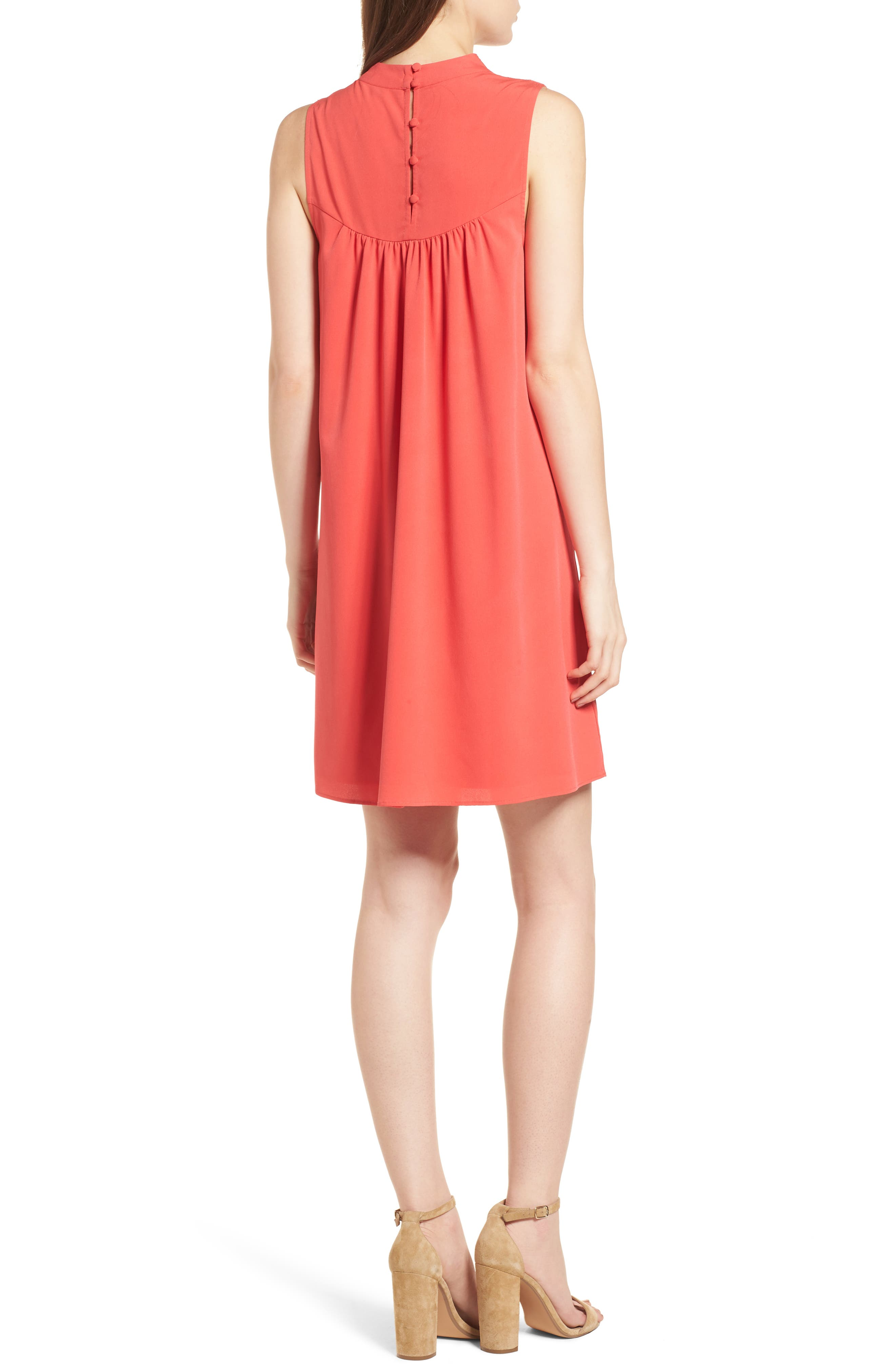 Swing Dress,                             Alternate thumbnail 2, color,                             Red Hibiscus