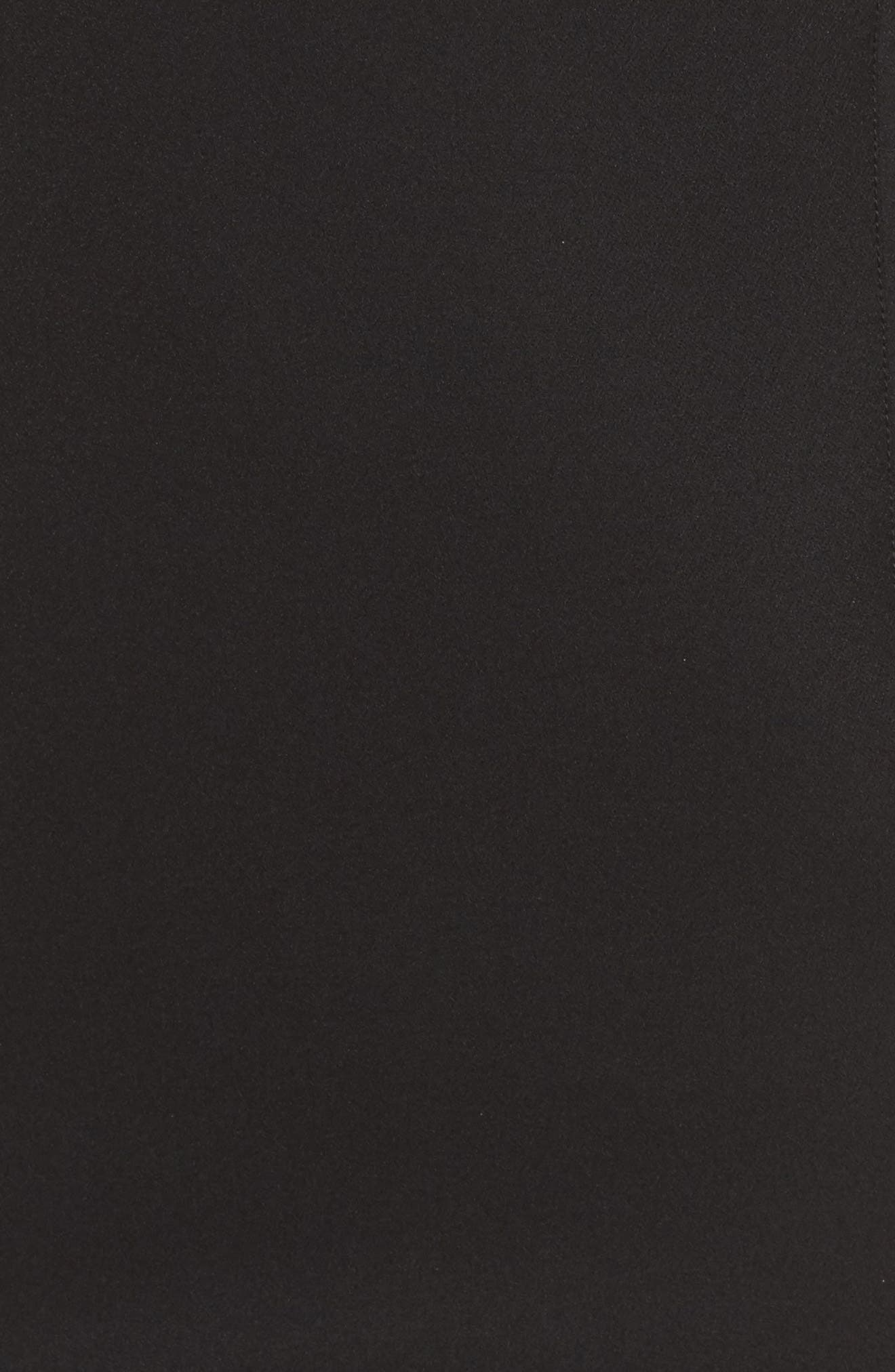 Mirren Midi Body-Con Dress,                             Alternate thumbnail 5, color,                             Black