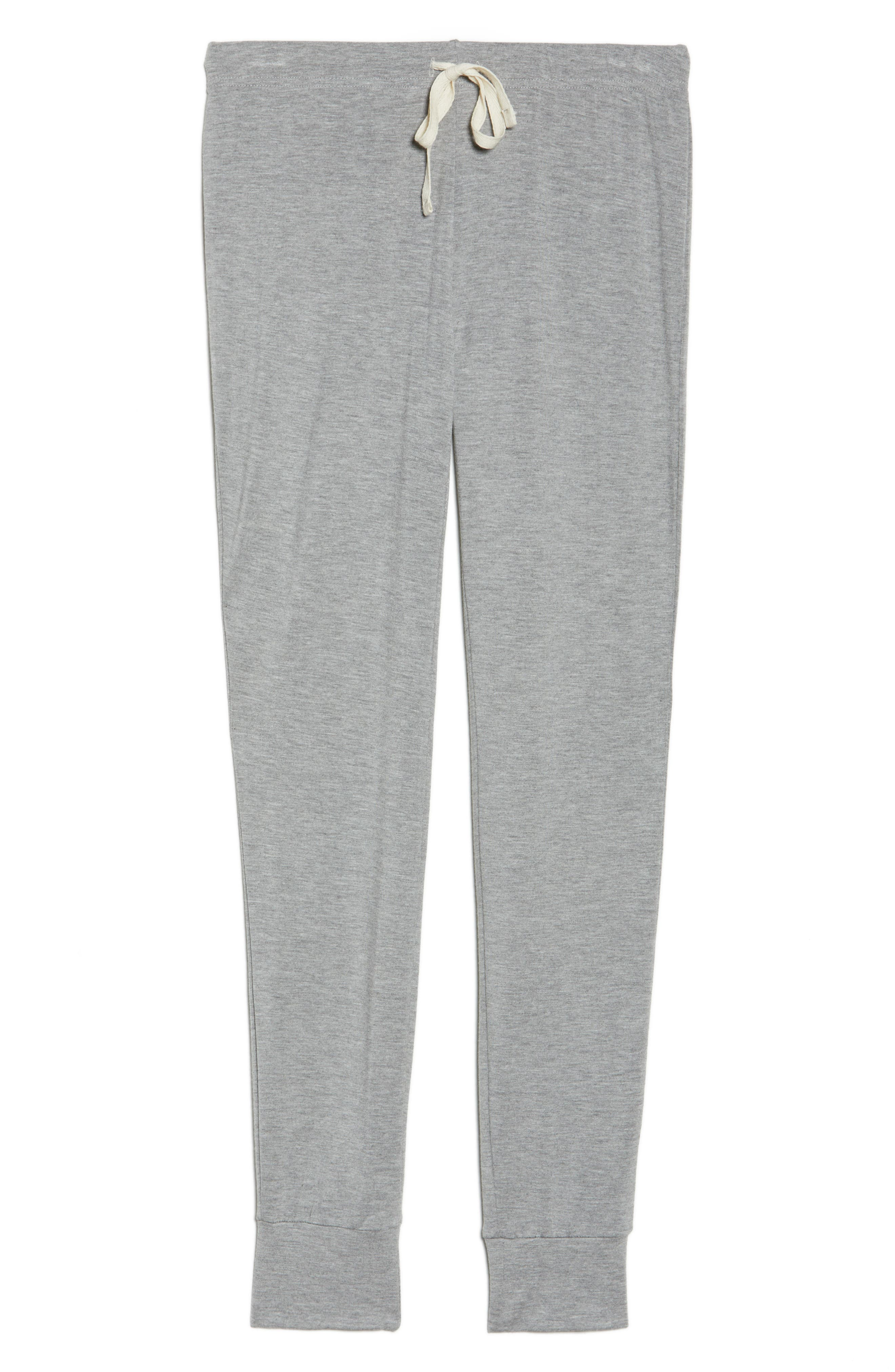 Kickin' It French Terry Lounge Pants,                             Alternate thumbnail 6, color,                             Heather Grey