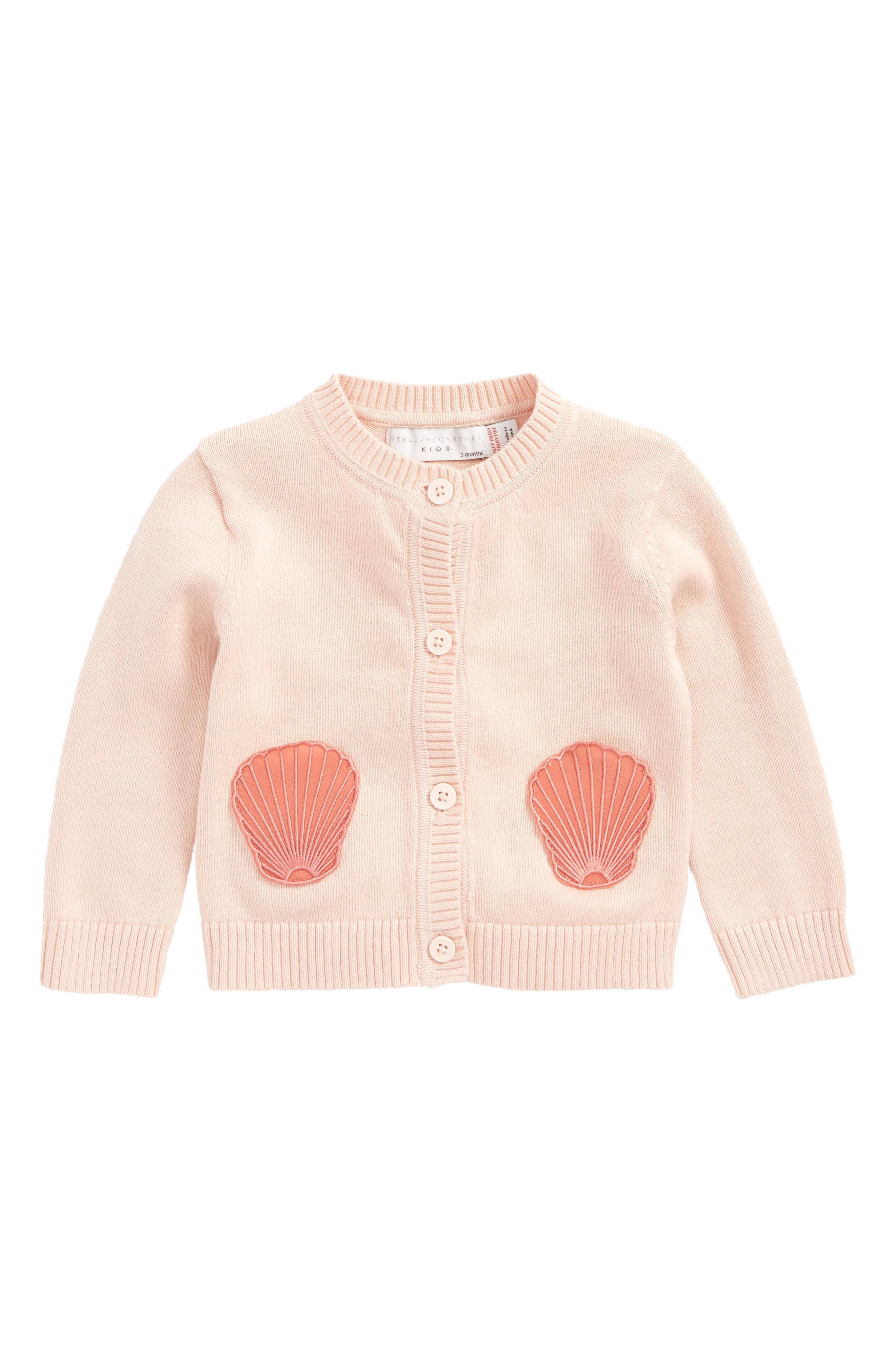 Stella McCartney Lauren Seashell Patch Cardigan (Baby Girls)