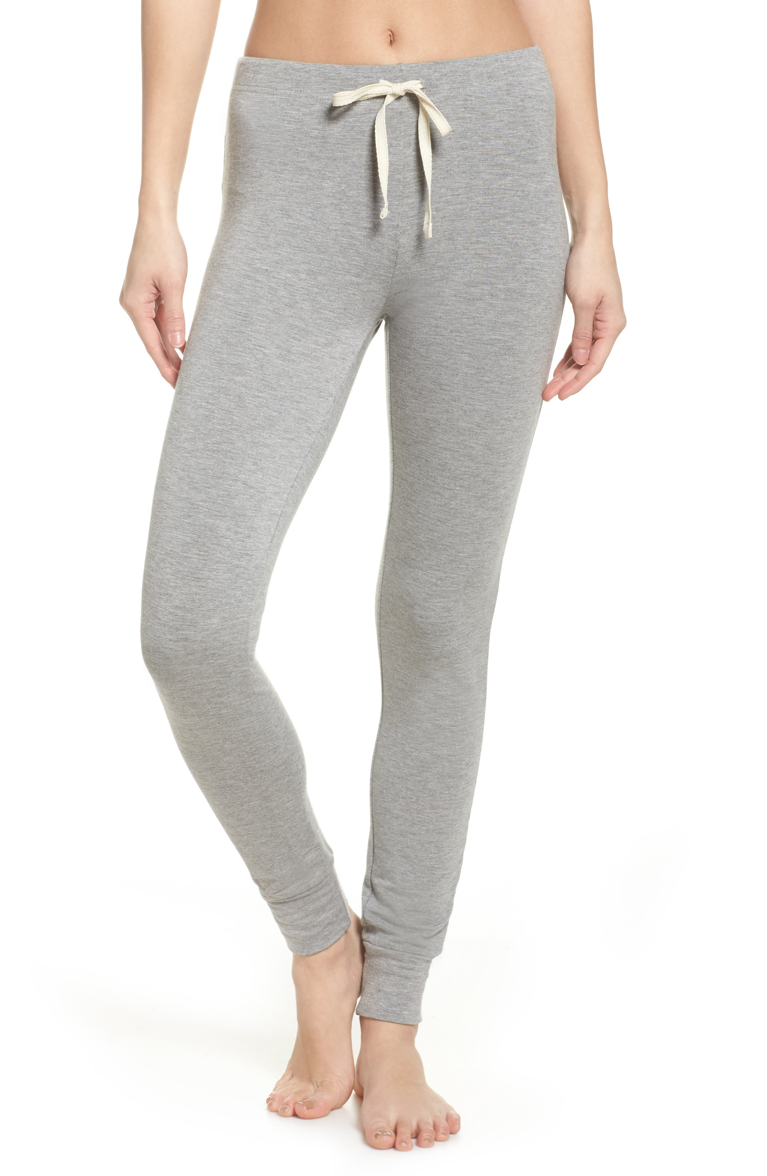 Kickin' It French Terry Lounge Pants,                             Main thumbnail 1, color,                             Heather Grey
