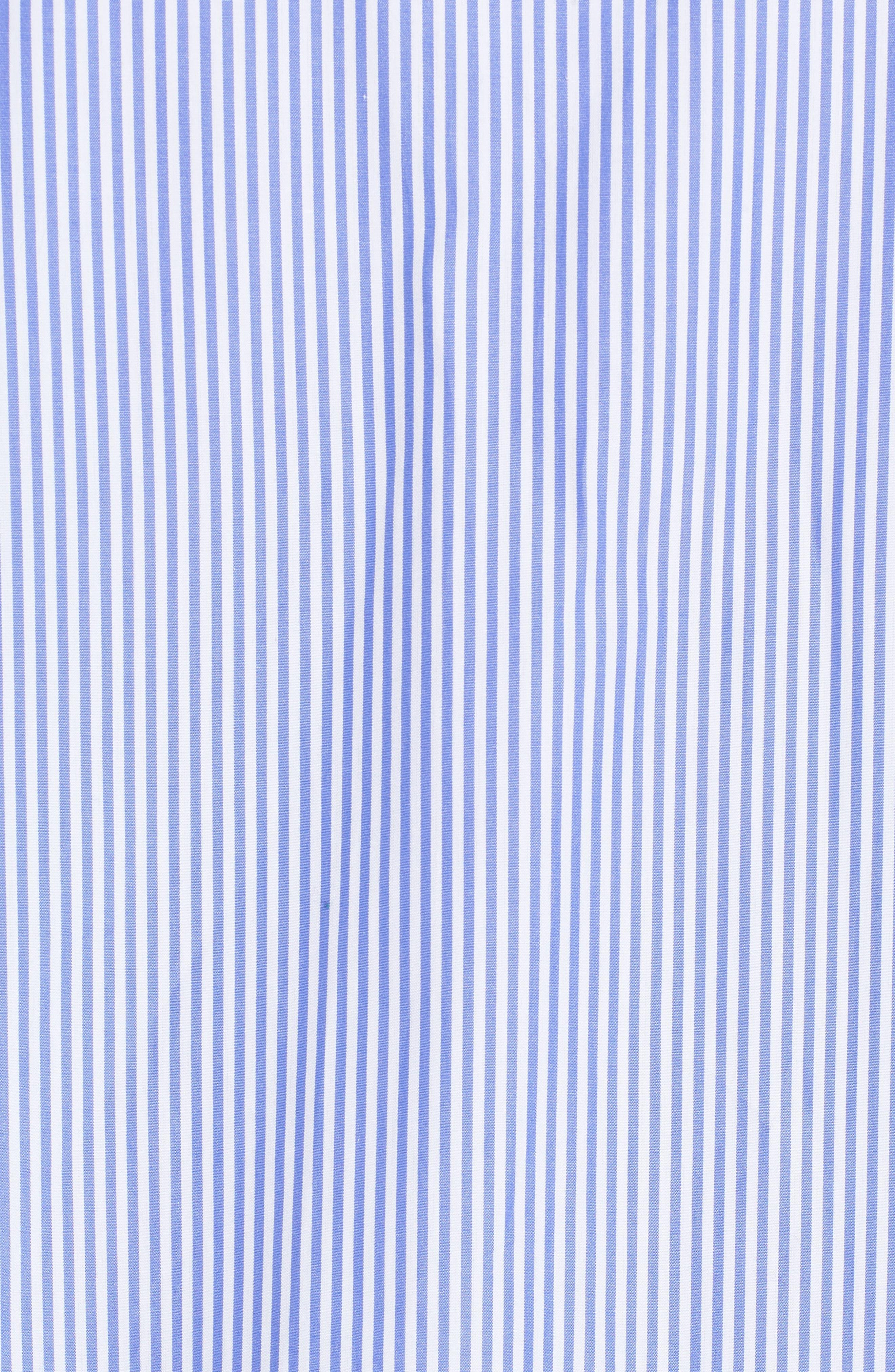 Asymmetrical Stripe Shirt,                             Alternate thumbnail 6, color,                             Blue Denim Stripe