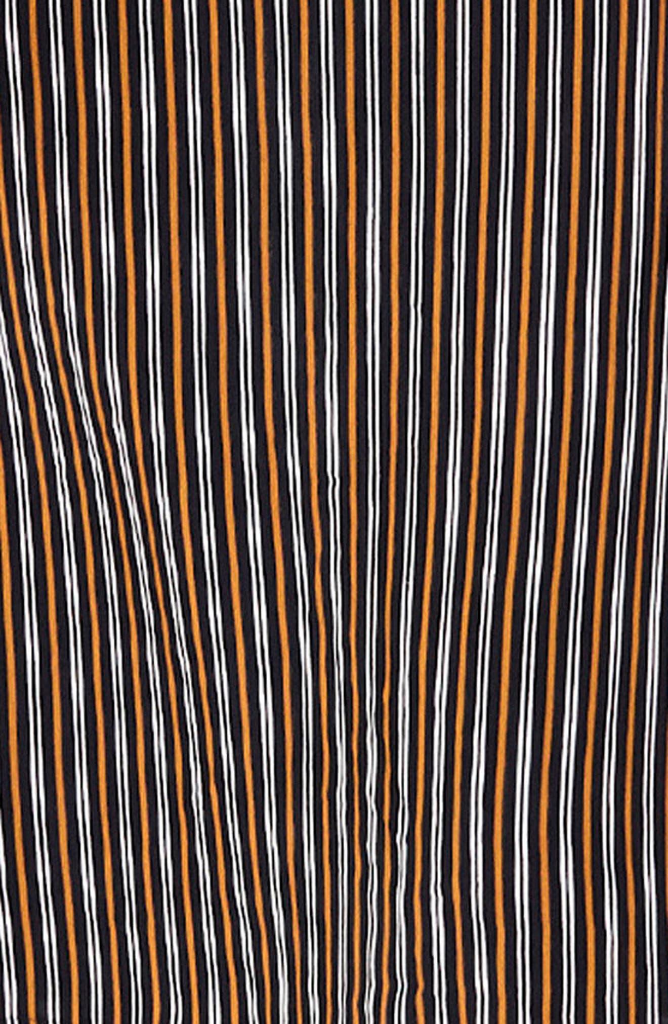 Katergo Stripe Tie Back Midi Dress,                             Alternate thumbnail 4, color,                             Glasgow Stripe Print