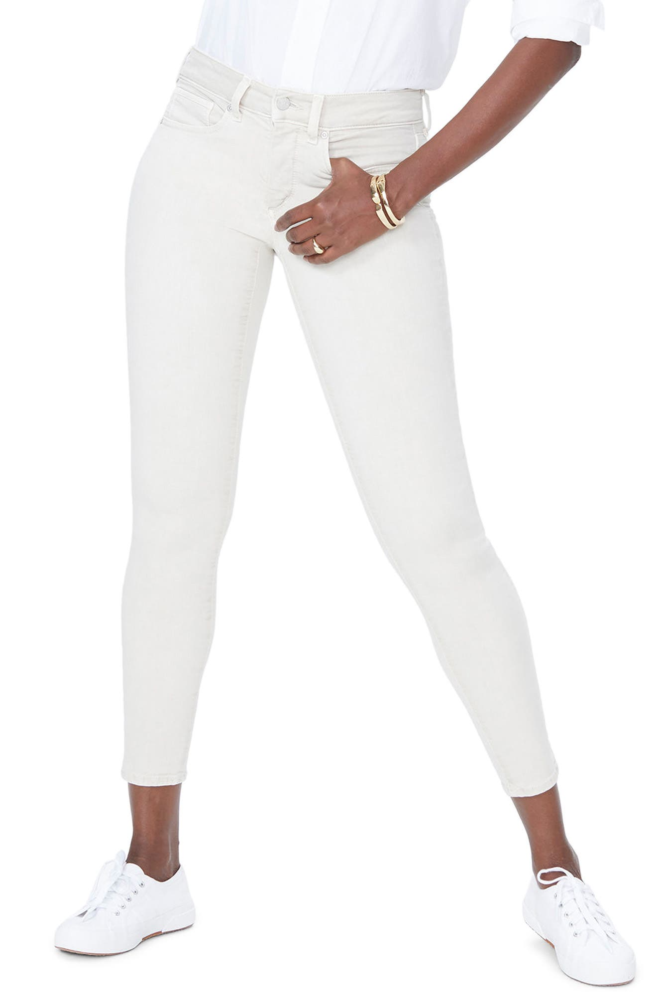 Ami Ankle Skinny Jeans,                             Main thumbnail 1, color,                             Feather