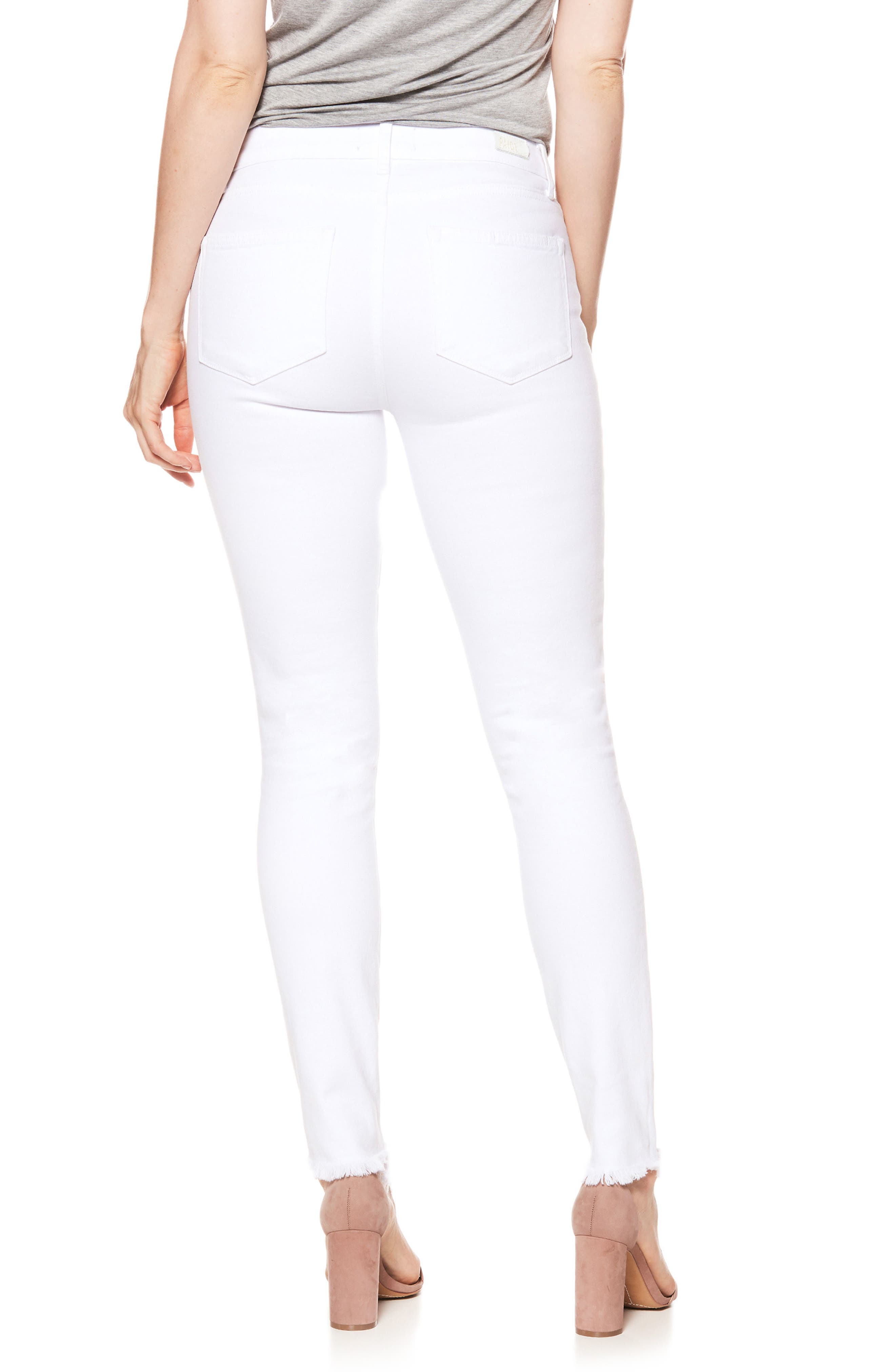 Hoxton High Waist Ankle Skinny Jeans,                             Alternate thumbnail 3, color,                             Crisp White