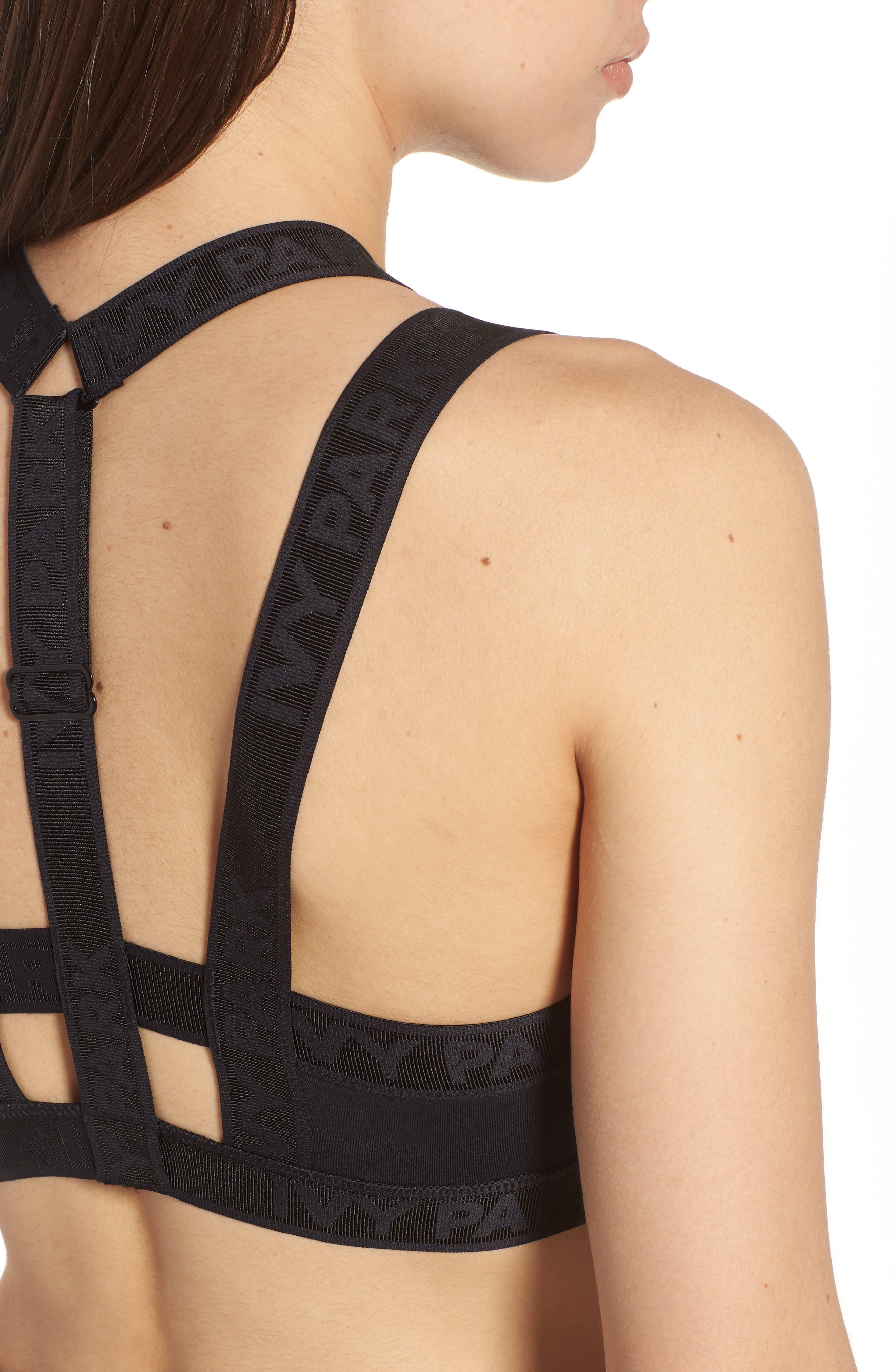 Harness Sports Bra,                             Alternate thumbnail 7, color,                             Black